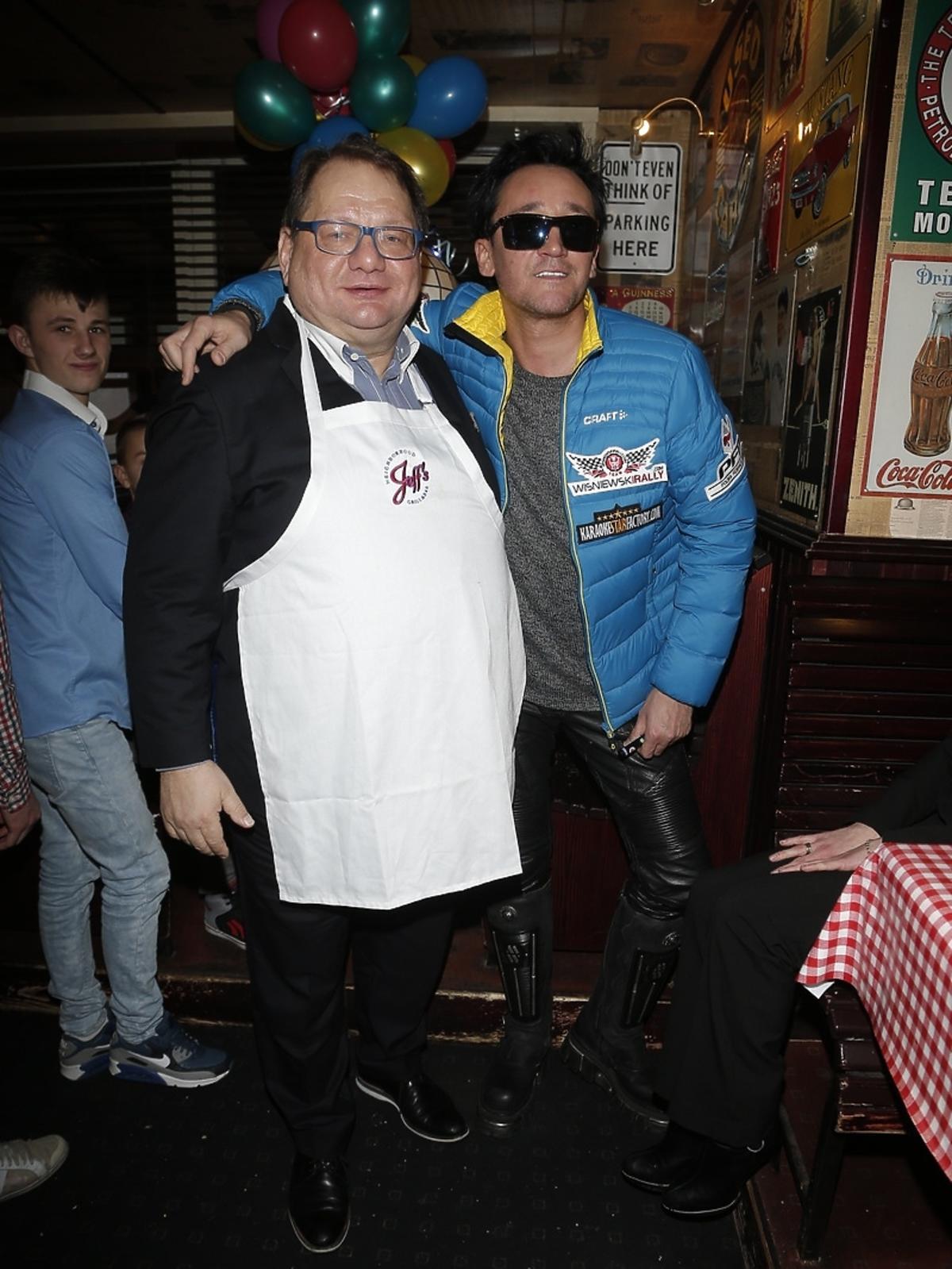 Michał Wiśniewski na obiedzie noworocznym