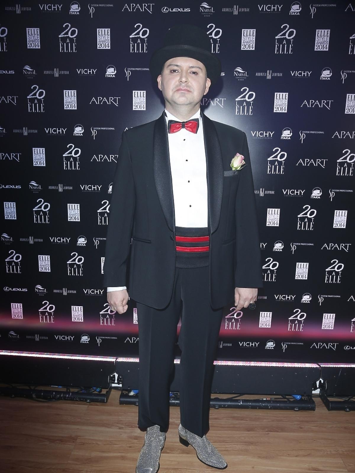 Michał Witkowski na Elle Style Awards 2014