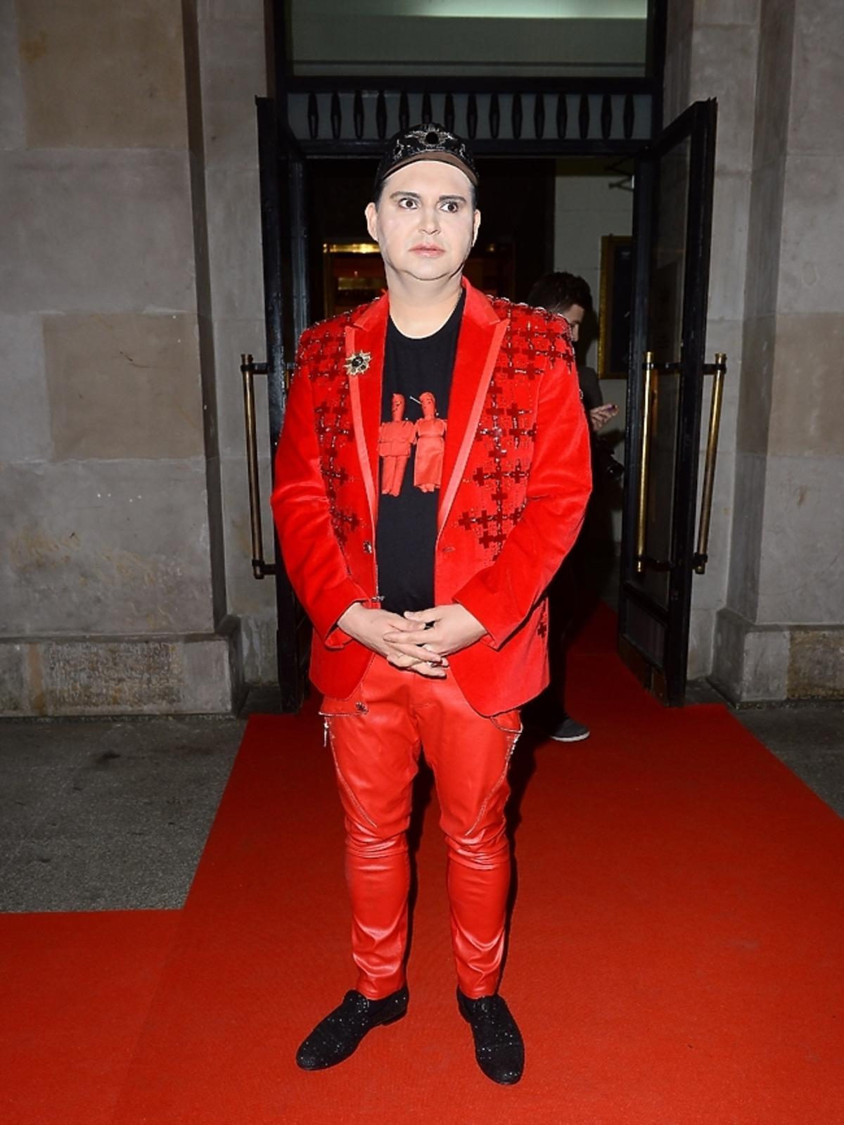 Michał Witkowski na imprezie Flesz Fashion Night