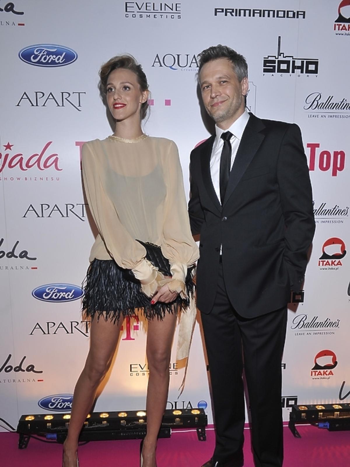 Michał Żebrowski z żoną na imprezie Plejada Top 10 2013