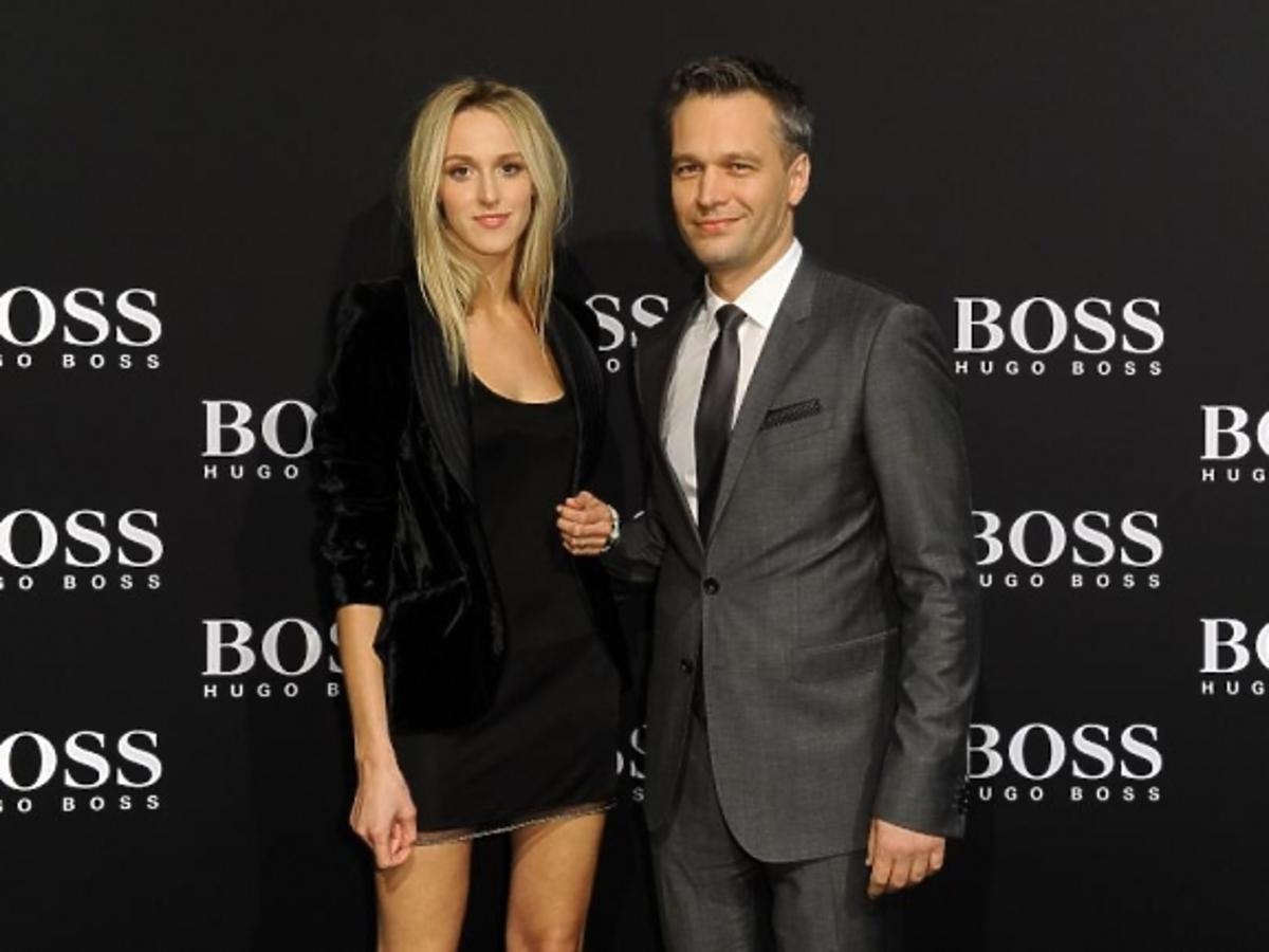 Michał Żebrowski z żoną podczas BOSS Fashion Event w Galerii Mokotów