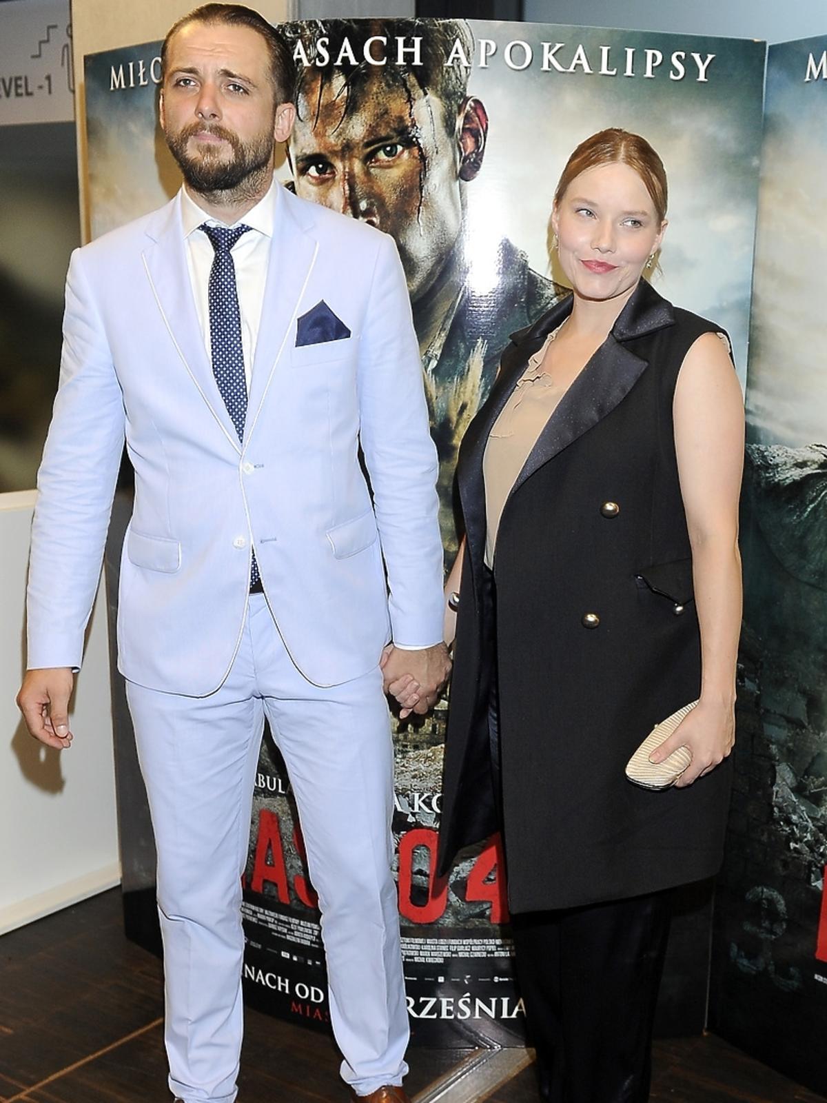 Michał Żurawski i Roma Gąsiorowska na premierze filmu Miasto 44