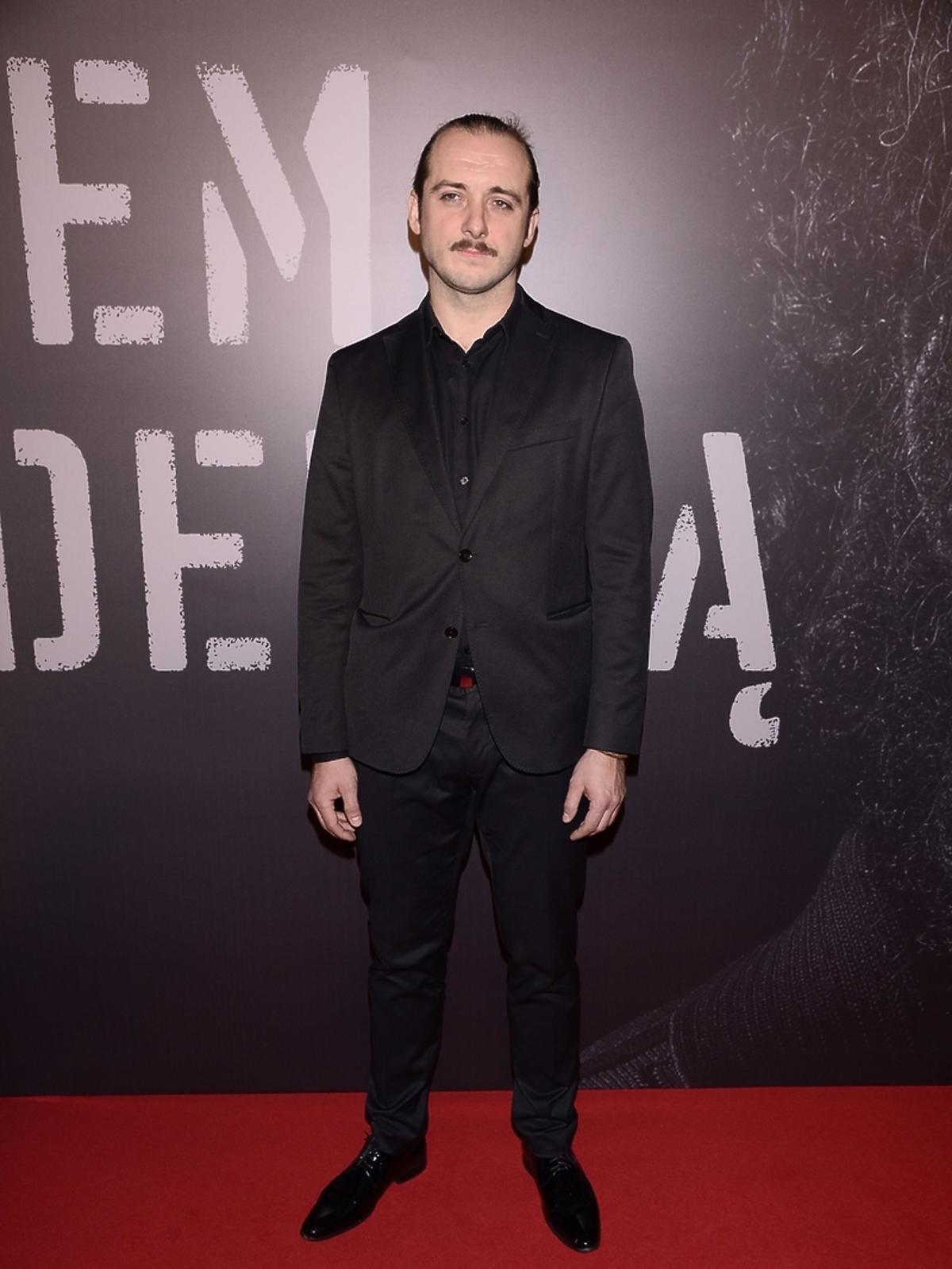 Michał Żurawski na premierze filmu