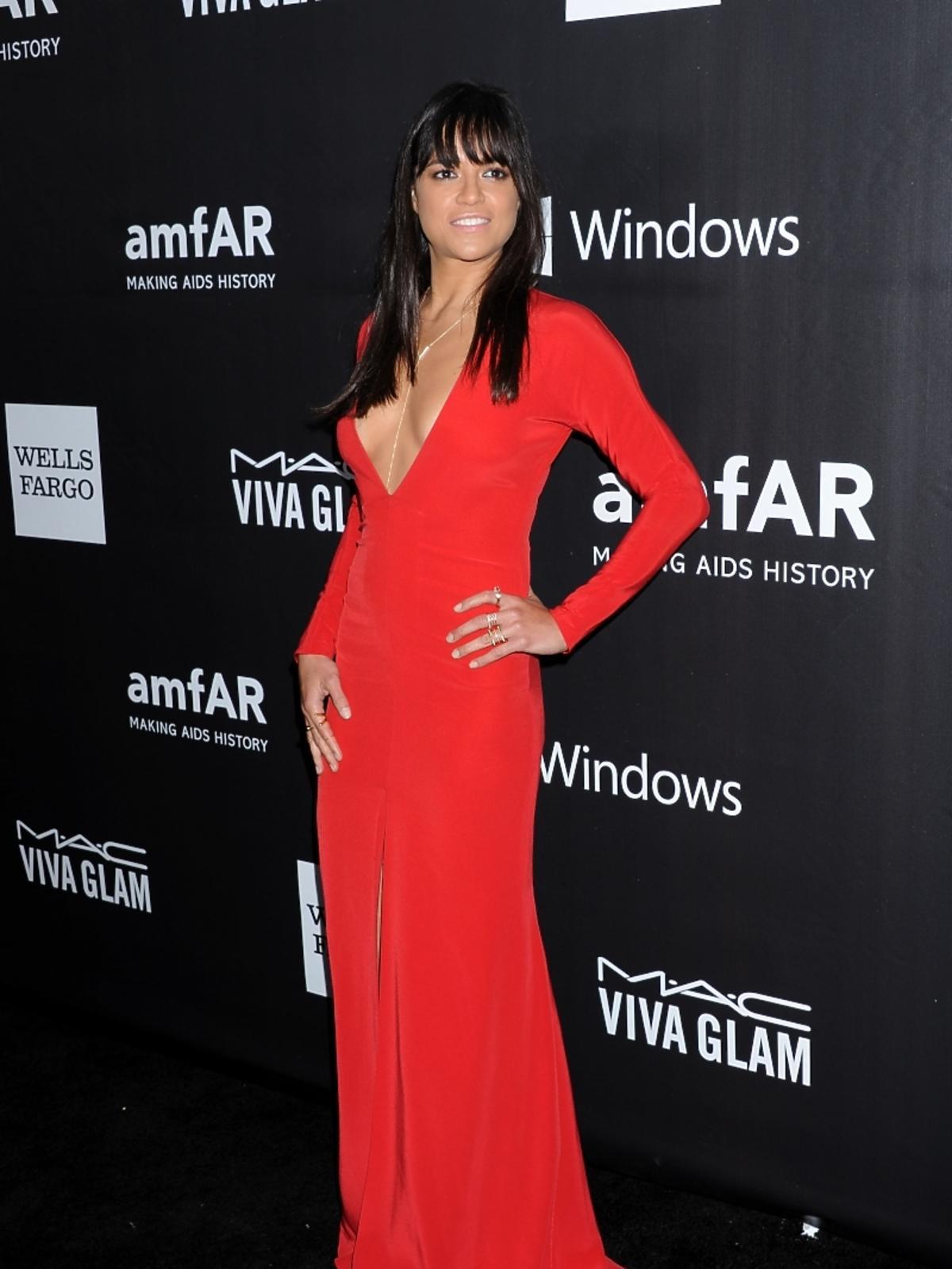 Michelle Rodriguez na amfAR LA Inspiration Gala 2014