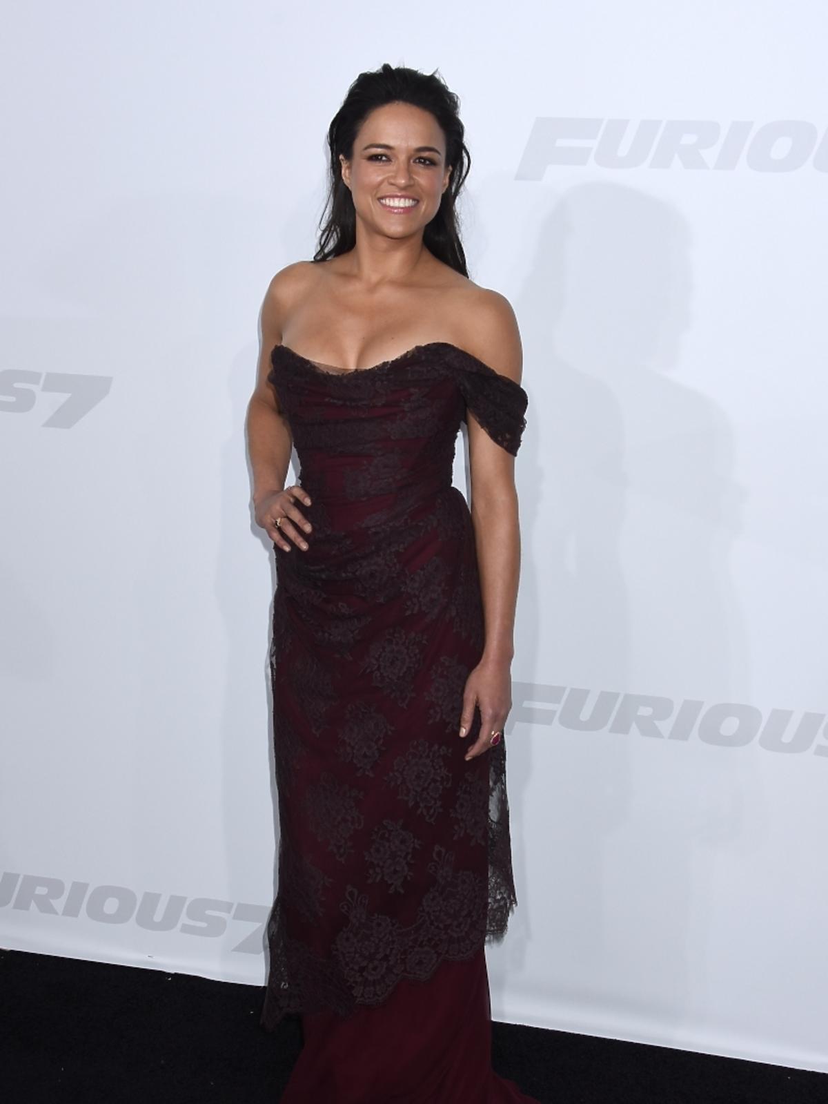 Michelle Rodriguez na premierze filmu
