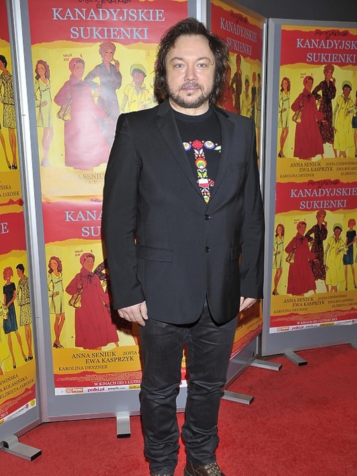 Mietek Szcześniak na premierze filmu