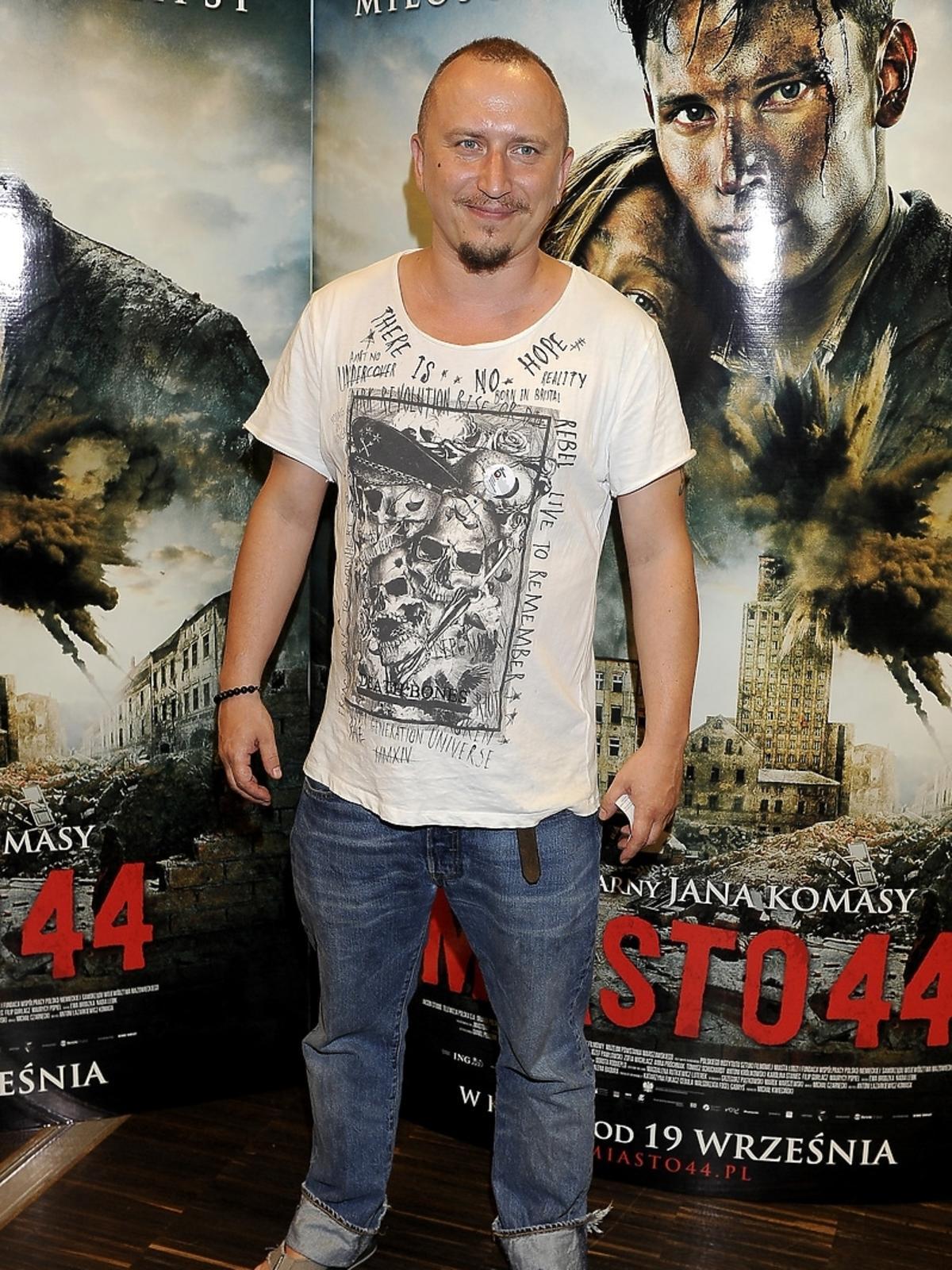 Mikołaj Lizut na premierze filmu Miasto 44