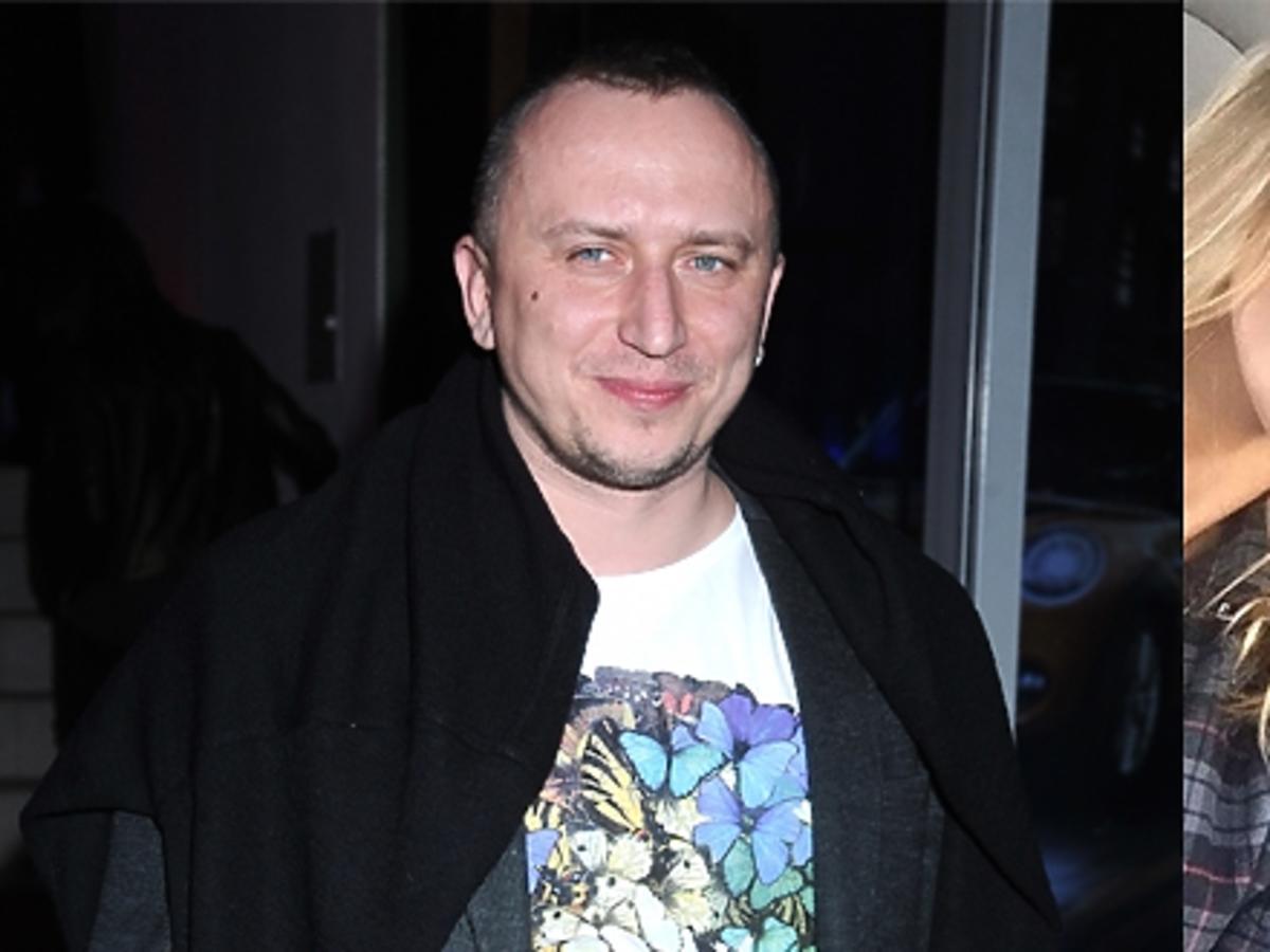 Mikołaj Lizut w czarnej kurtce, Anja Rubik w koszuli w kratkę, Lucyna Szymańska za kierownicą