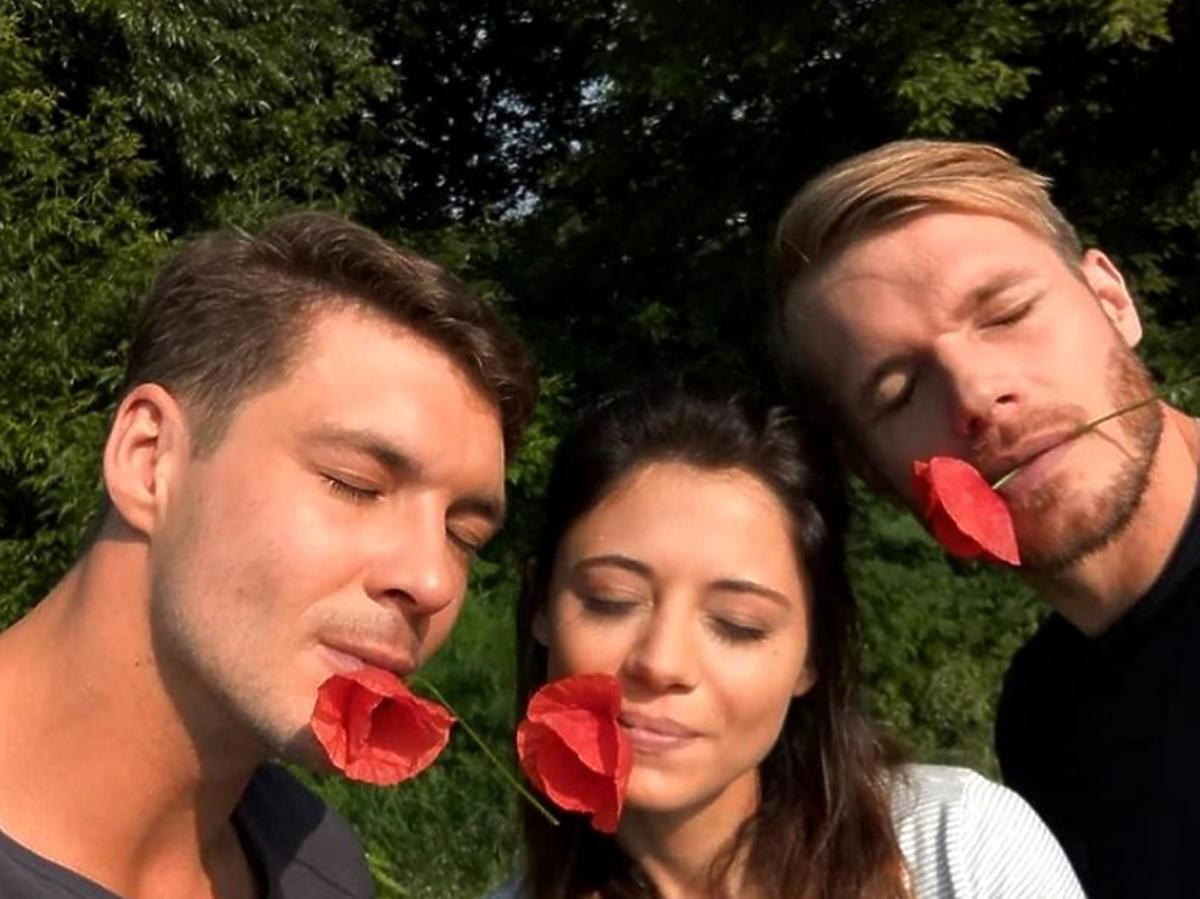 Mikołaj Roznerski, Adriana Kalska i Tomasz Ciachorowski na planie M jak miłość