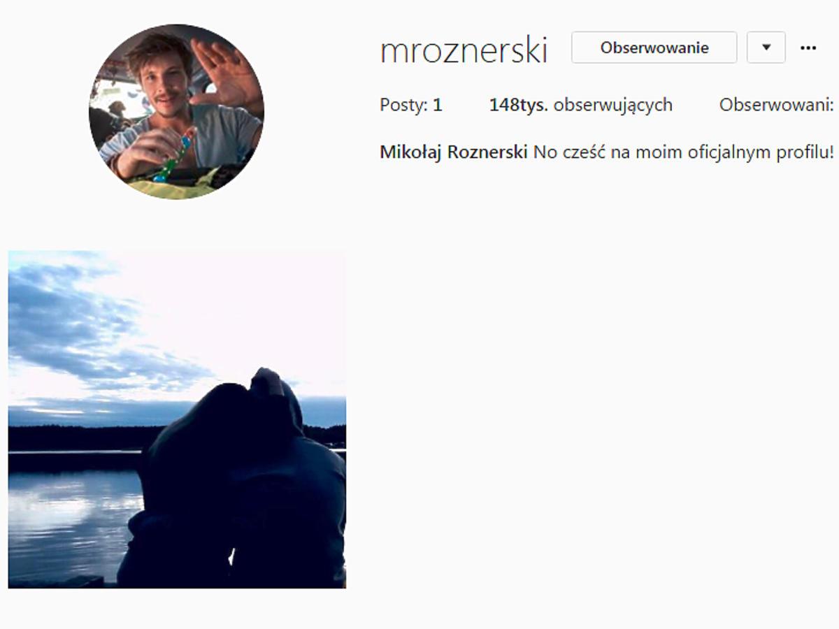 Mikołaj Roznerski na Instagramie