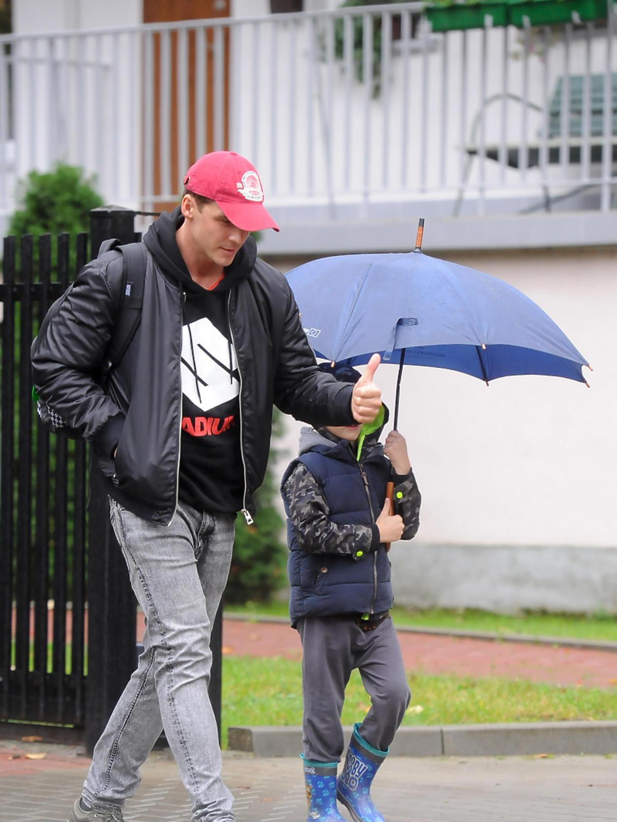 Mikołaj Roznerski z synem