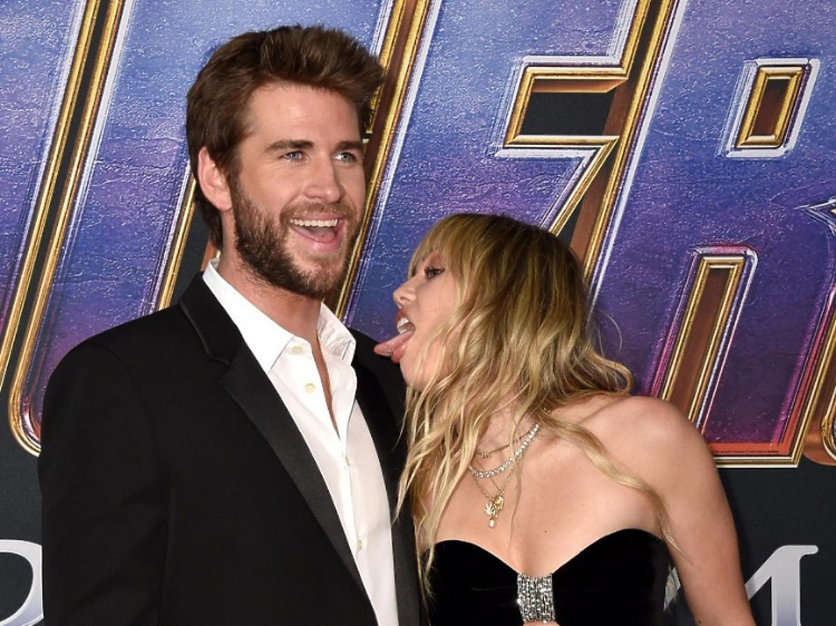 Miley Cyrus i Liam gala