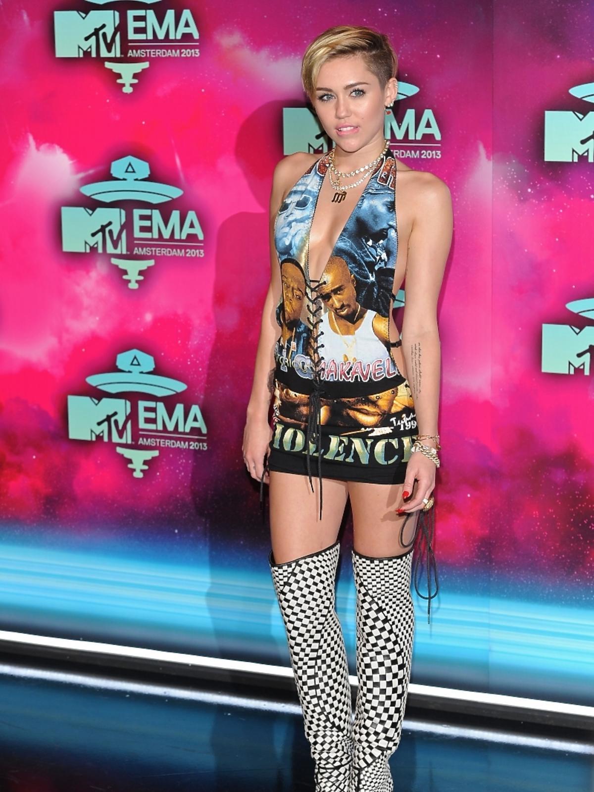 Miley Cyrus na gali MTV EMA 2013 w Amsterdamie