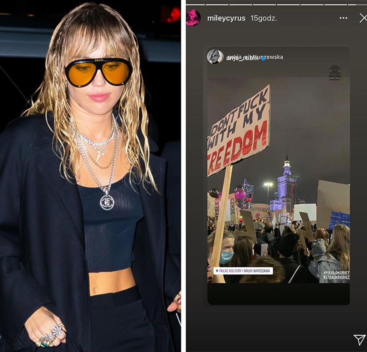 Miley Cyrus wspiera Strajk Kobiet w Polsce