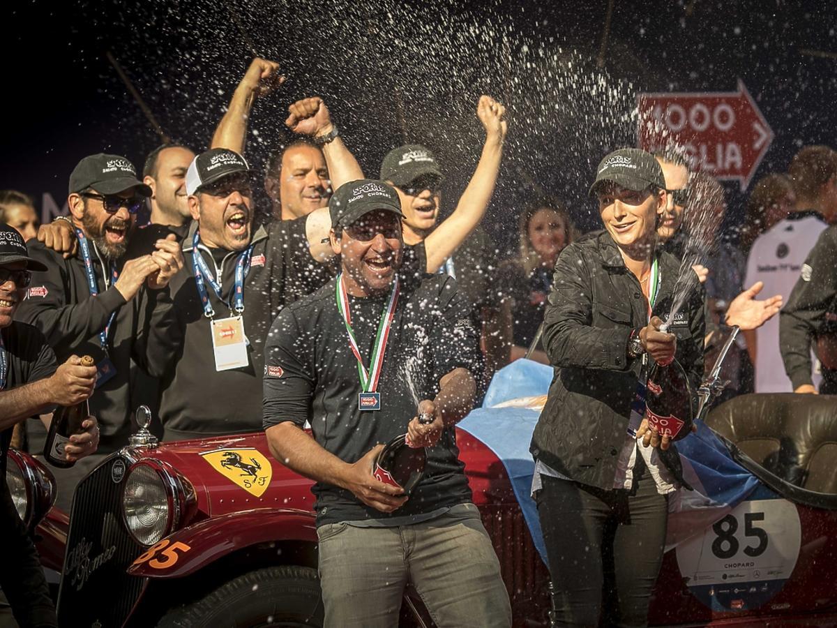 Mille Miglia 2018, zwycięzcy na mecie
