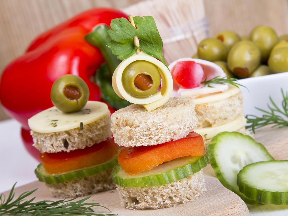 Mini kanapki z warzywami