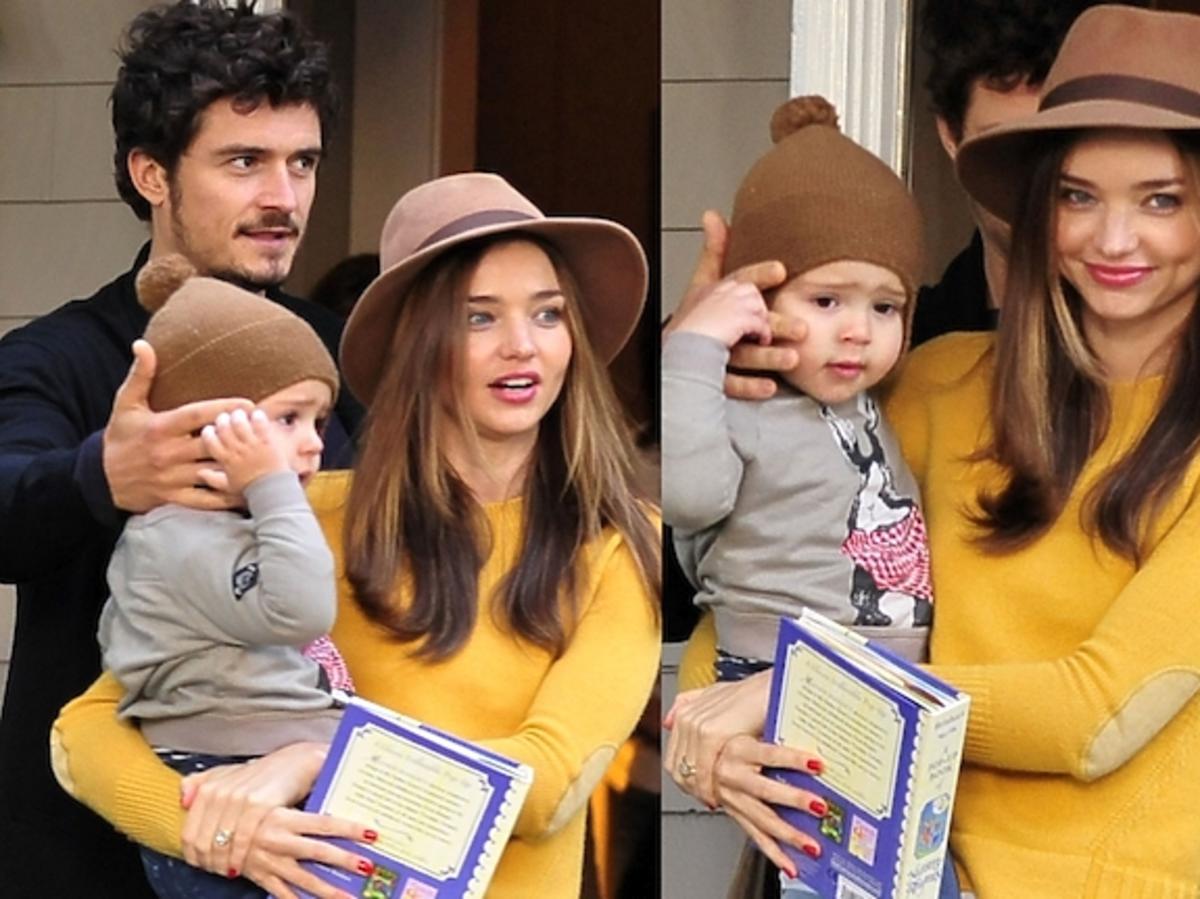 Miranda Kerr i Orlando Bloom z synem Flynn