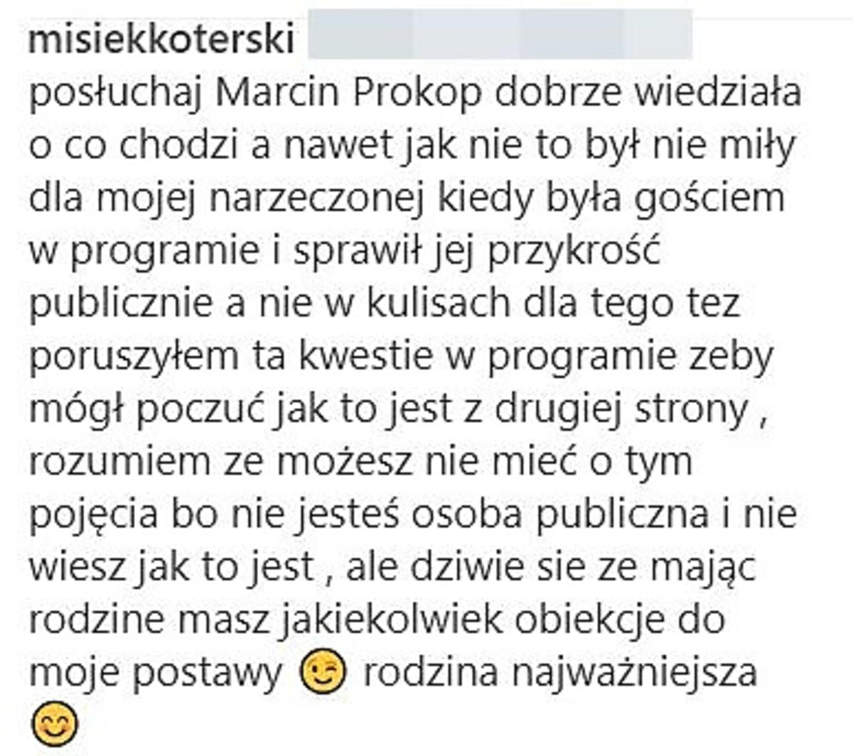 Misiek Koterski komentuje swoje zachowanie w DDTVN