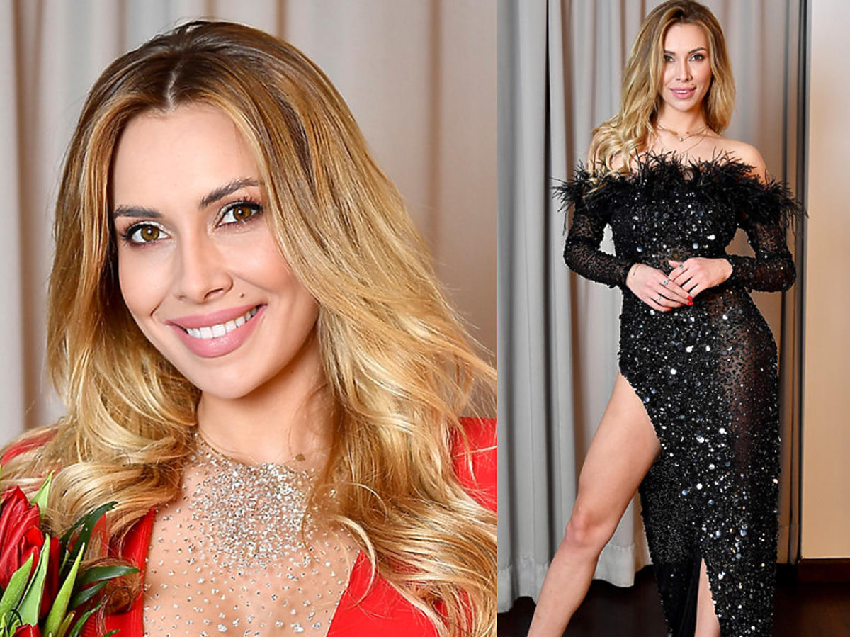 Miss Polonia Milena Sadowska  w czarnej sukience