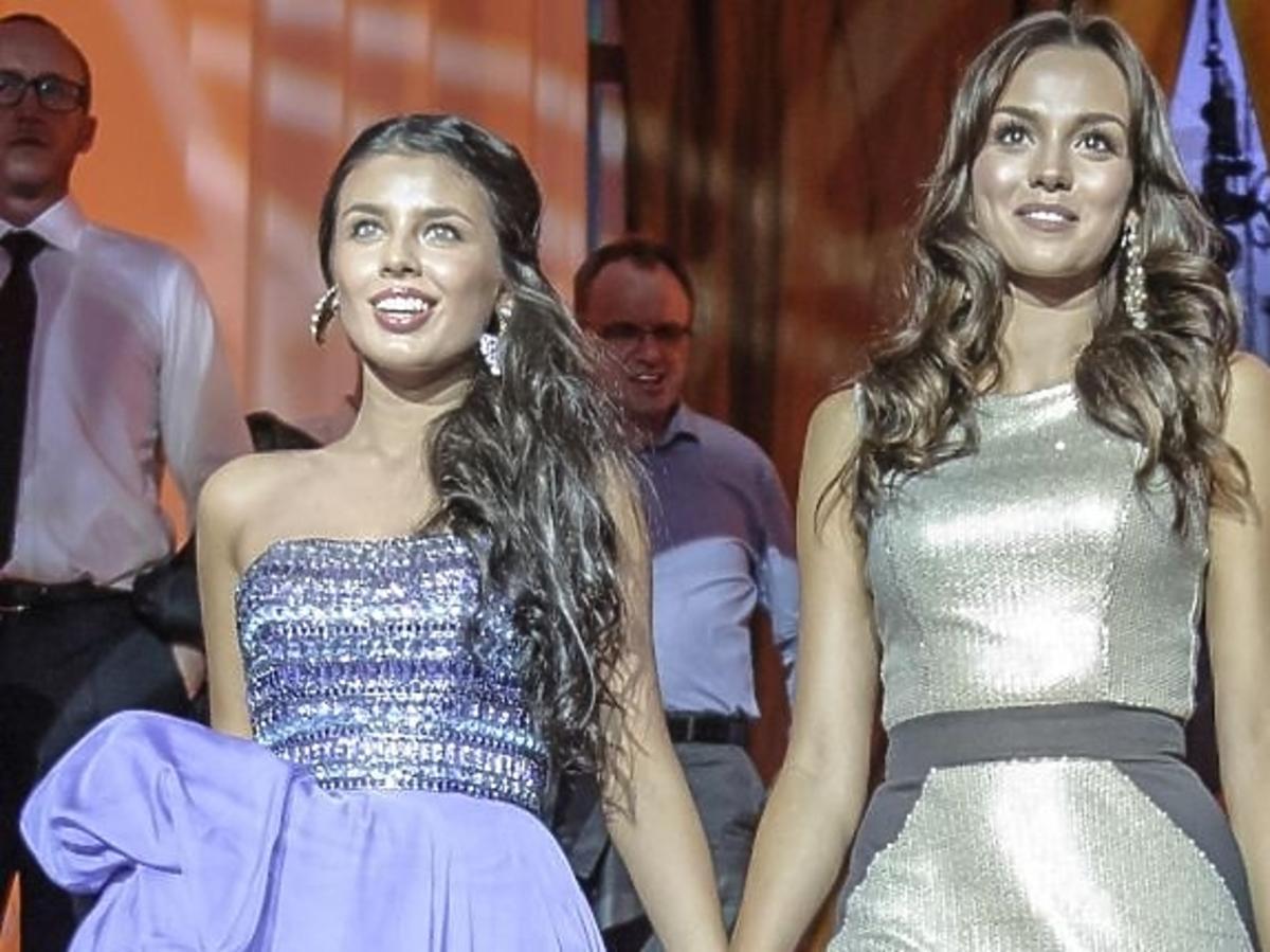Miss Polonia Paulina Krupińska i Miss Rosji Elmira Abdrazakowa
