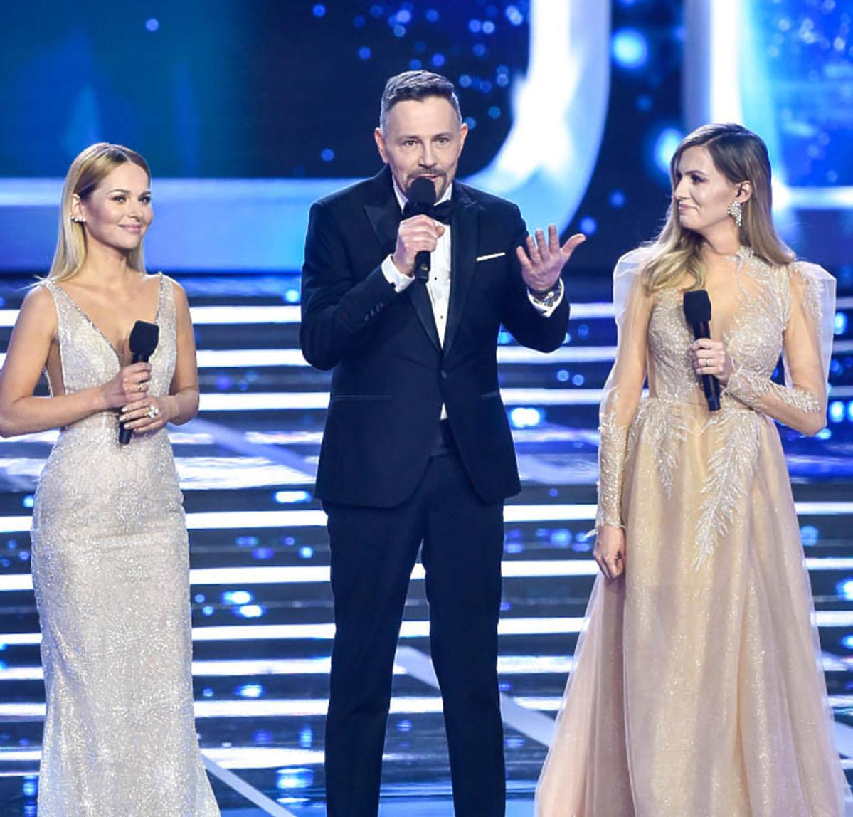 Miss Polski 2020 - Krzysztof Ibisz, Paulina Sykut-Jeżyna, Agnieszka Hyży