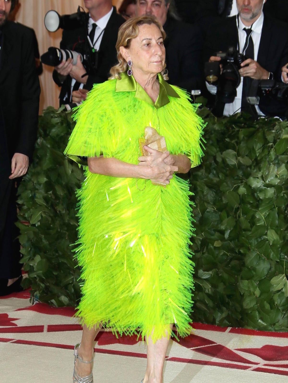 Miuccia Prada na gali Met, Maj 2018