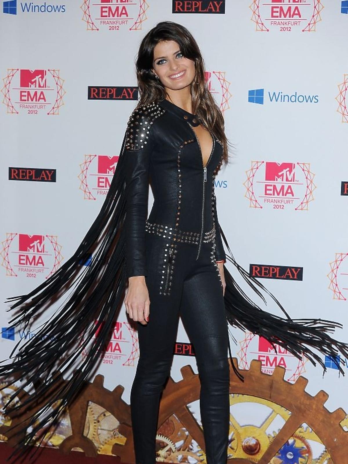 Modelka Isabeli Fontana na gali MTV EMA 2012