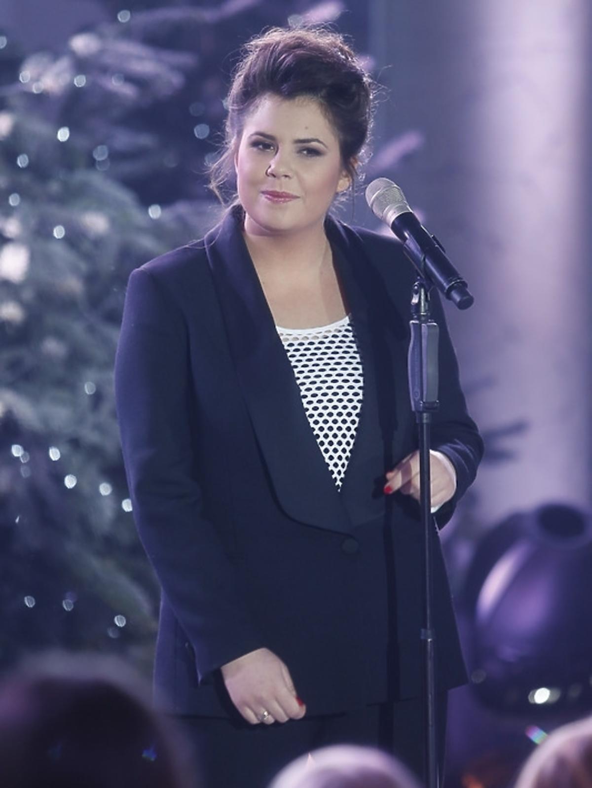 Monika Borzym podczas świątecznego koncertu w Pałacu Prezydenckim
