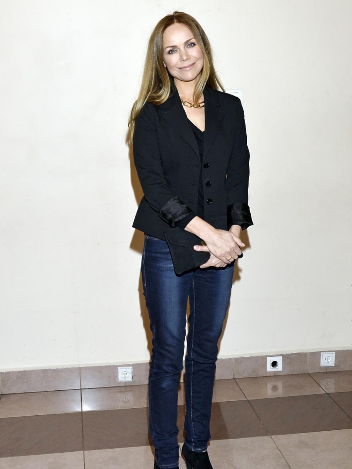 Monika Krzywkowska na spotkaniu z Małgorzatą Niemirską