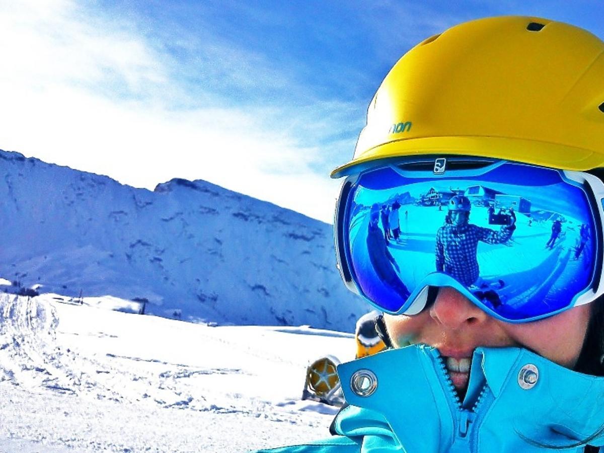 Monika Mrozowska z przyjaciółmi na urlopie w Alpach