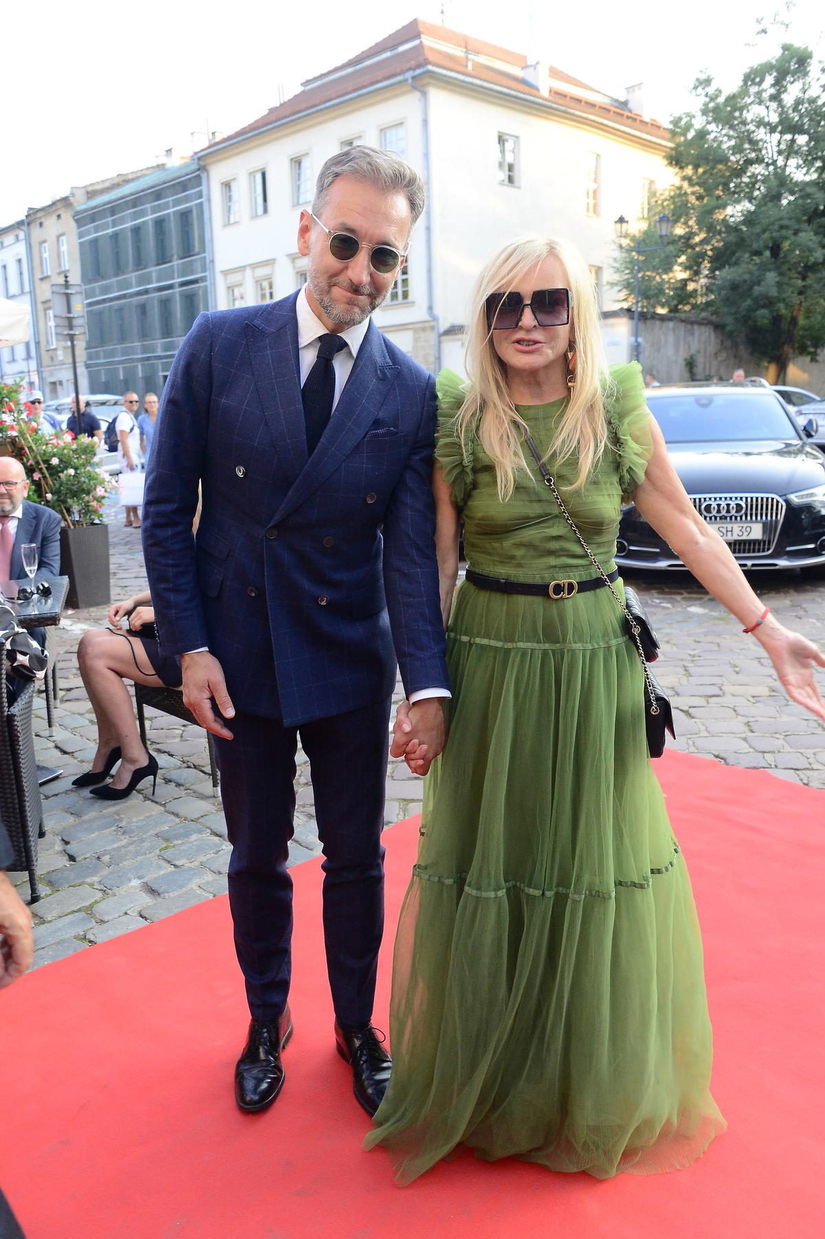 Monika Olejnik i Piotr Kraśko na ślubie Edwarda Miszczaka i Anny Cieślak