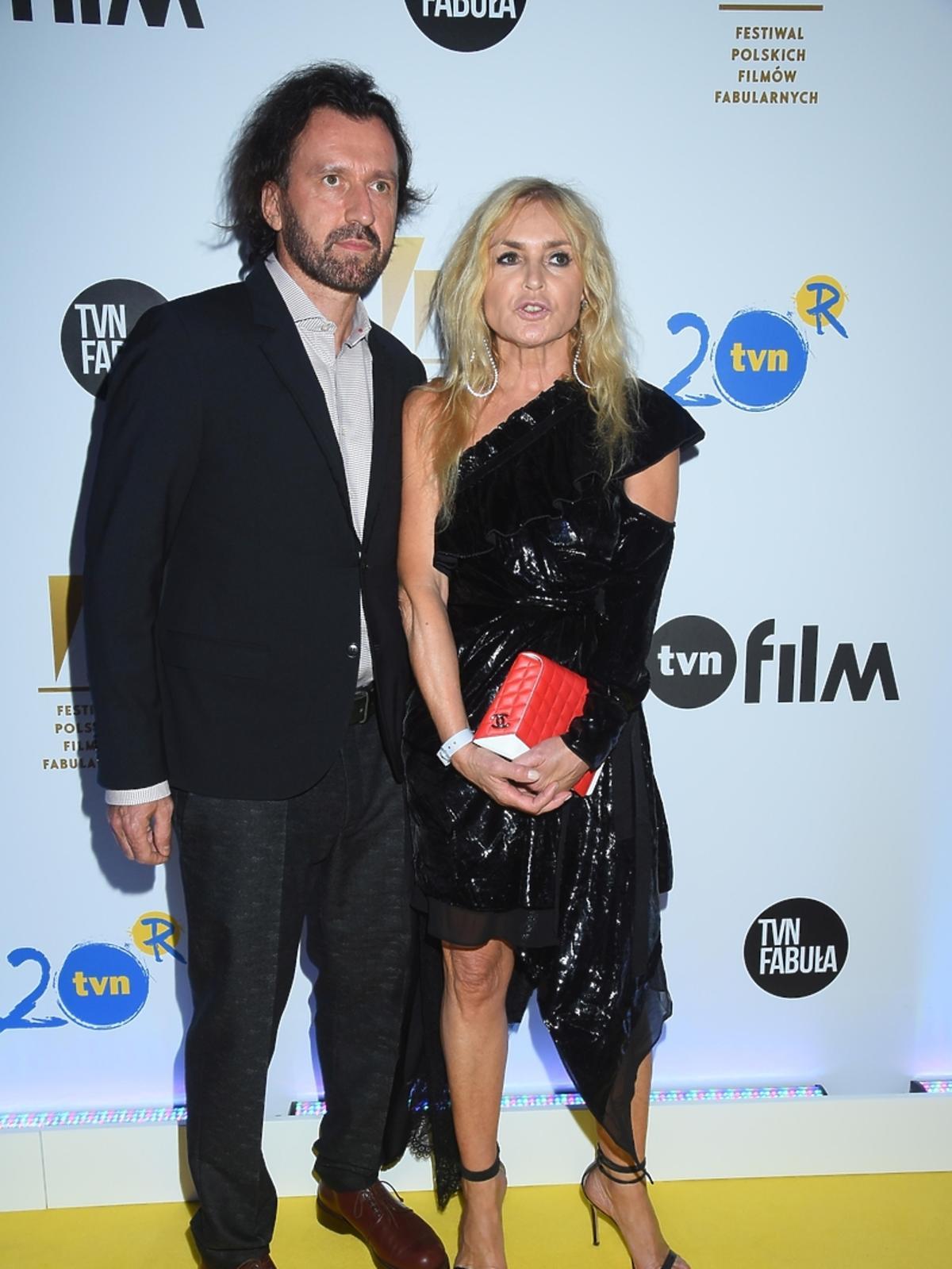 Monika Olejnik i Tomasz Ziółkowski na imprezie TVN na Festiwalu Filmowym w Gdyni