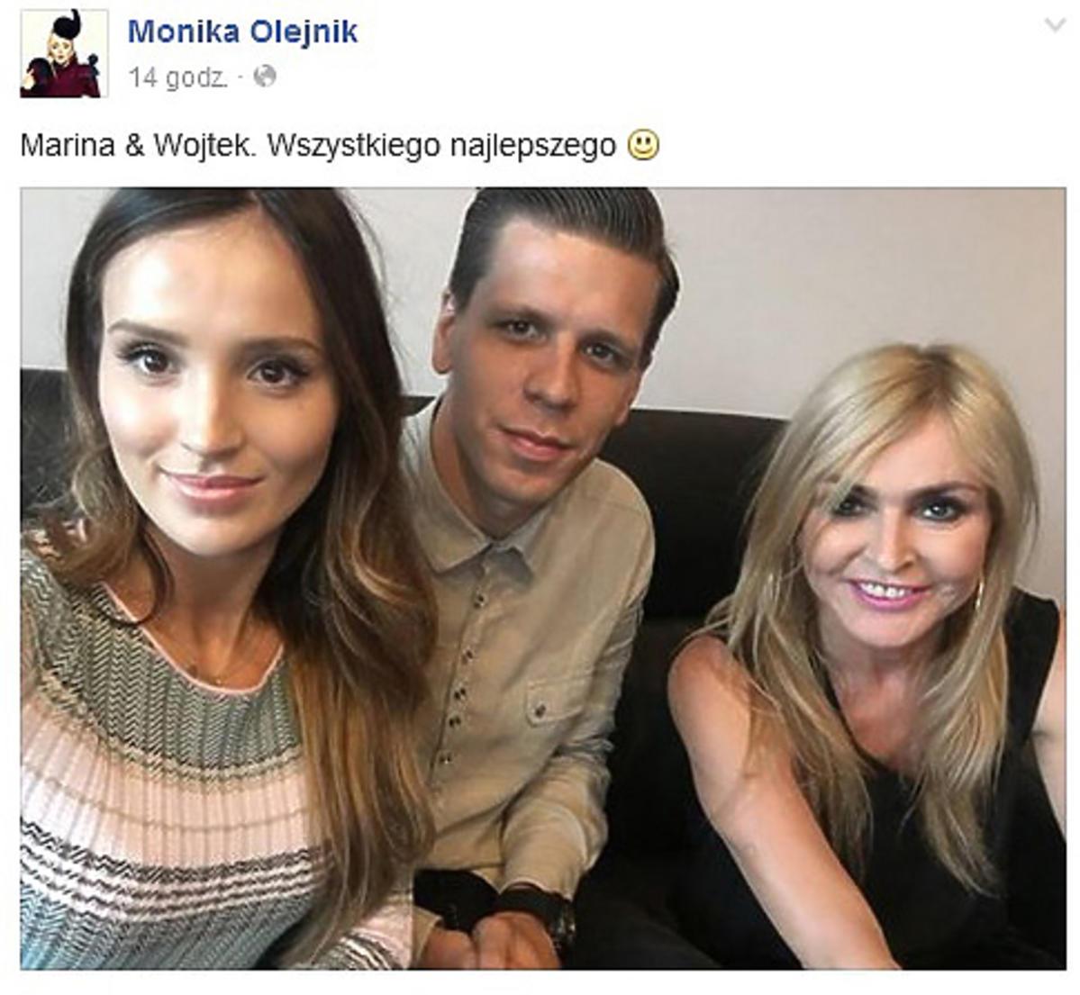 Monika Olejnik pokazała zdjęcie z Mariną i Wojtkiem Szczęsnym