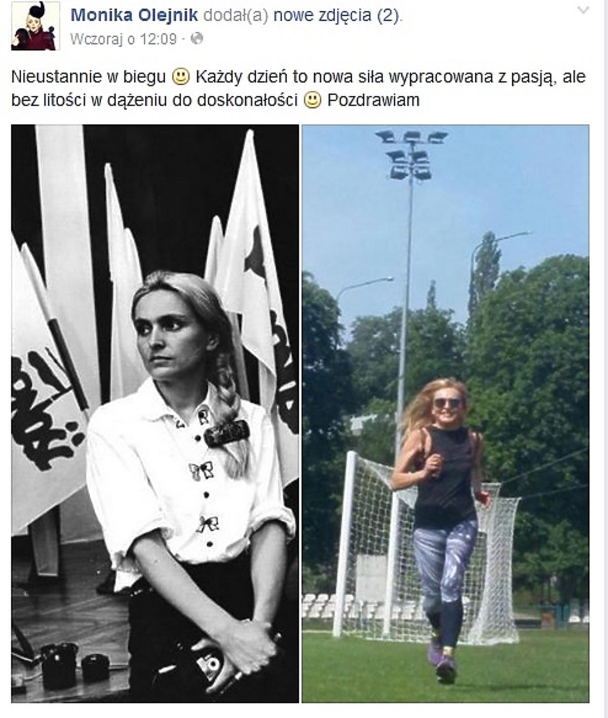 Monika Olejnik w młodości