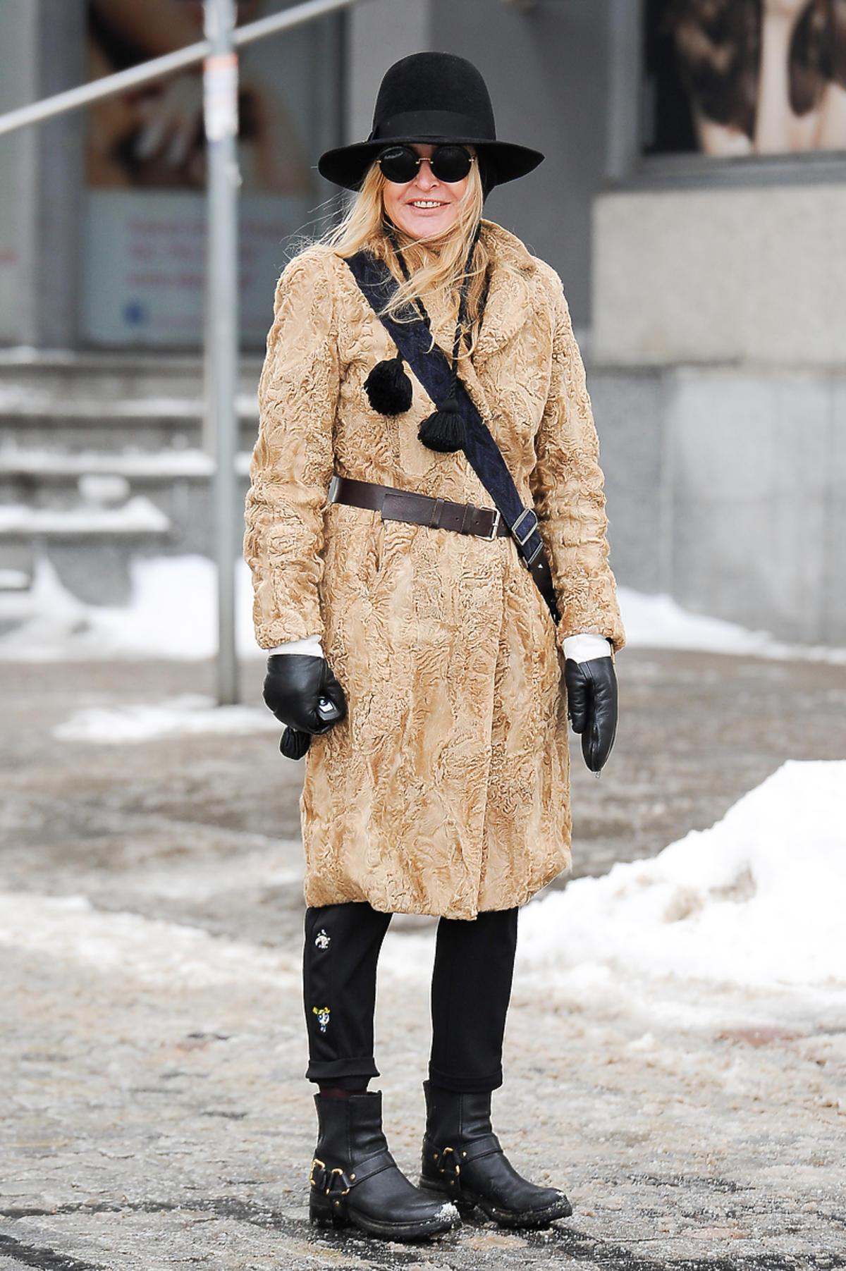 Monika Olejnik w zimowej stylizacji