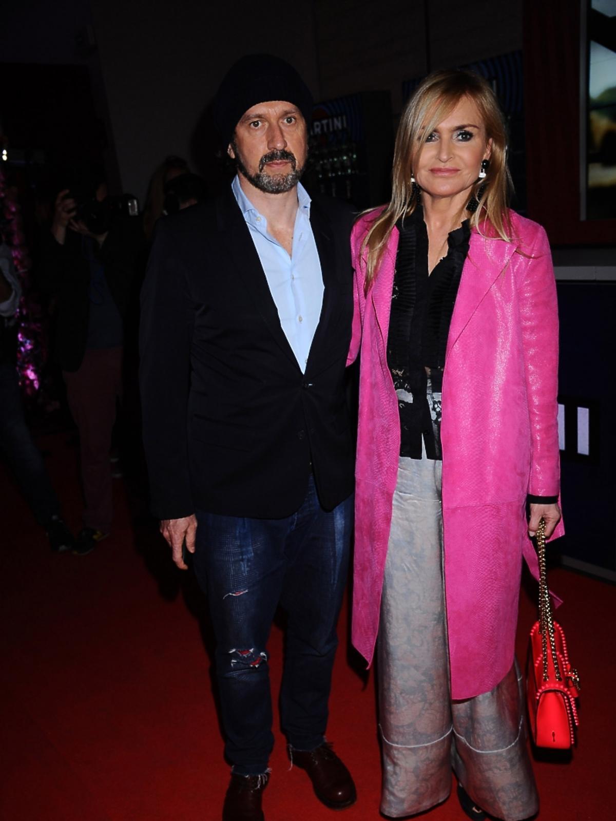 Monika Olejnik z partnerem na pokazie Dawida Wolińskiego
