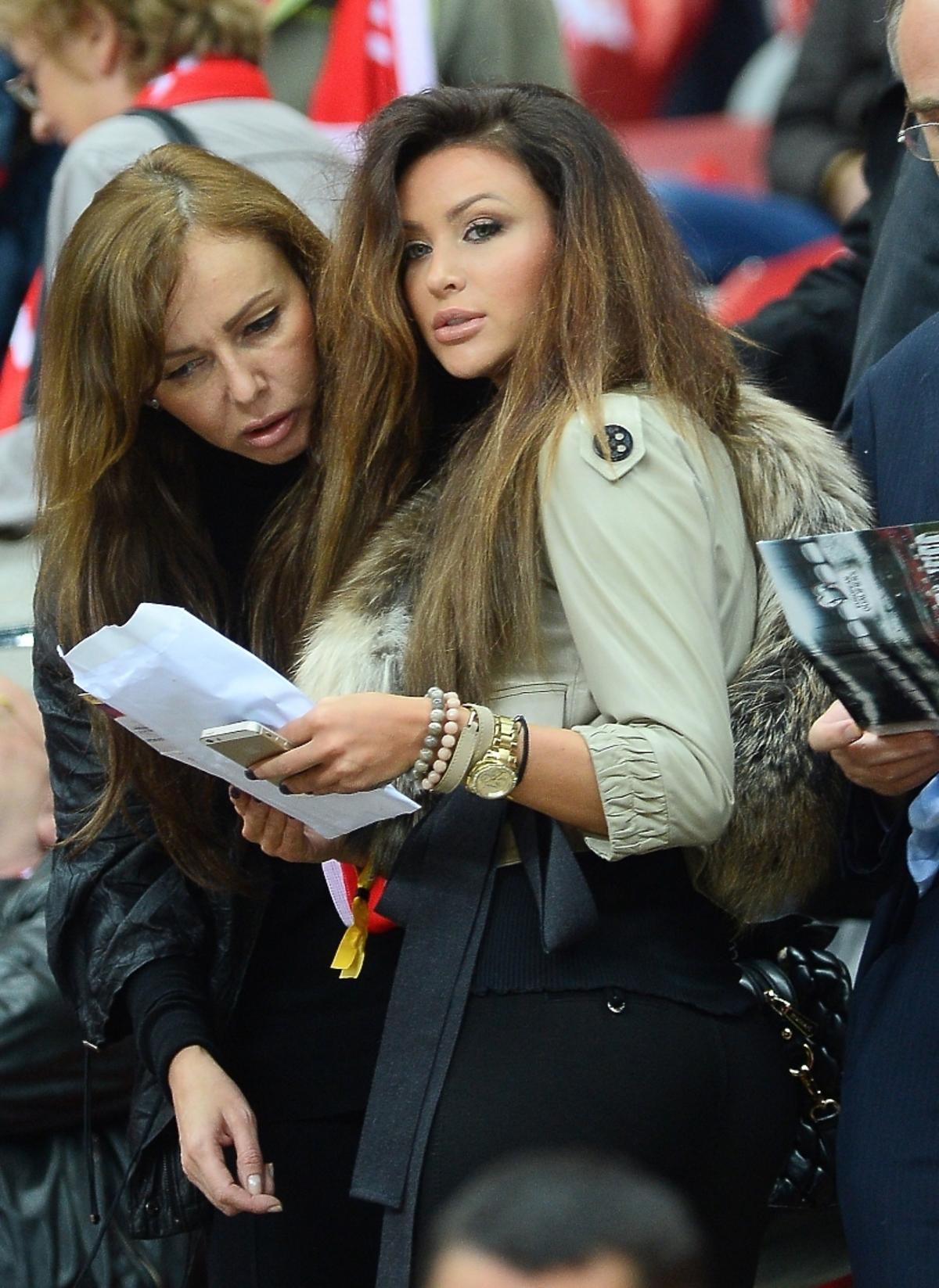 Monika Pietrasińska na meczu Polska-Szkocja na Stadionie Narodowym