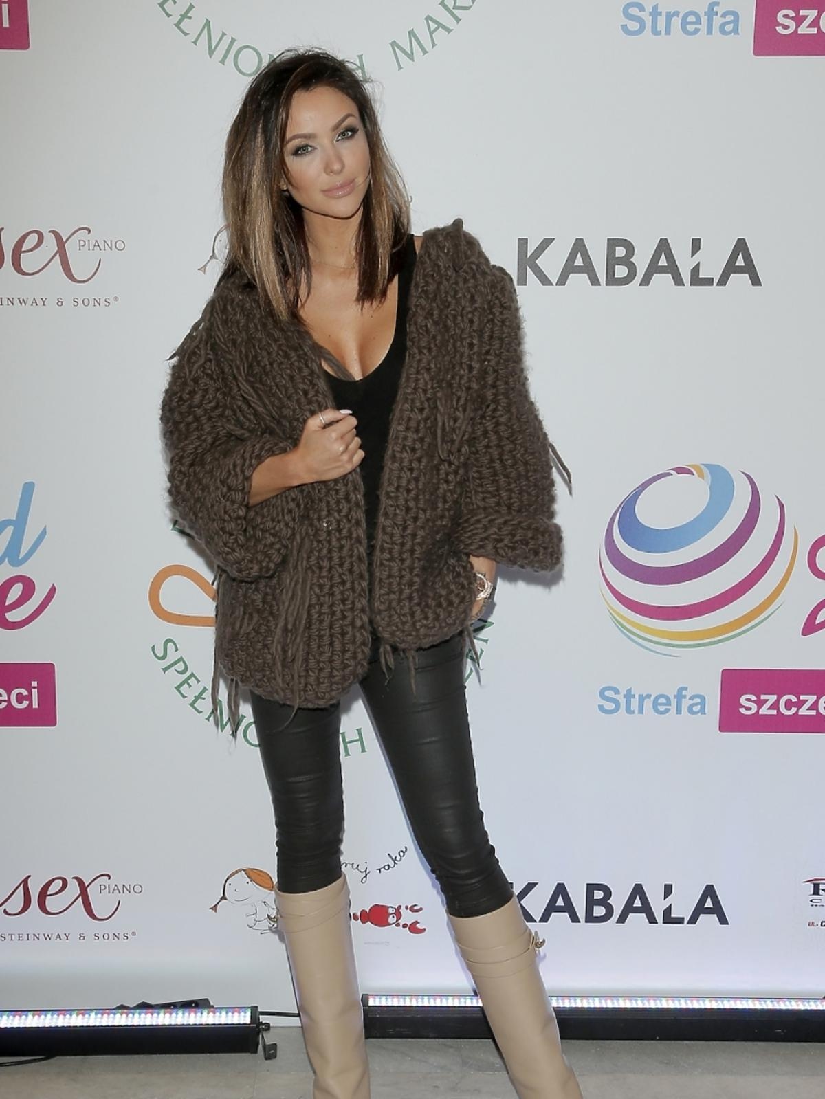 Monika Pietrasińska na pokazie mody