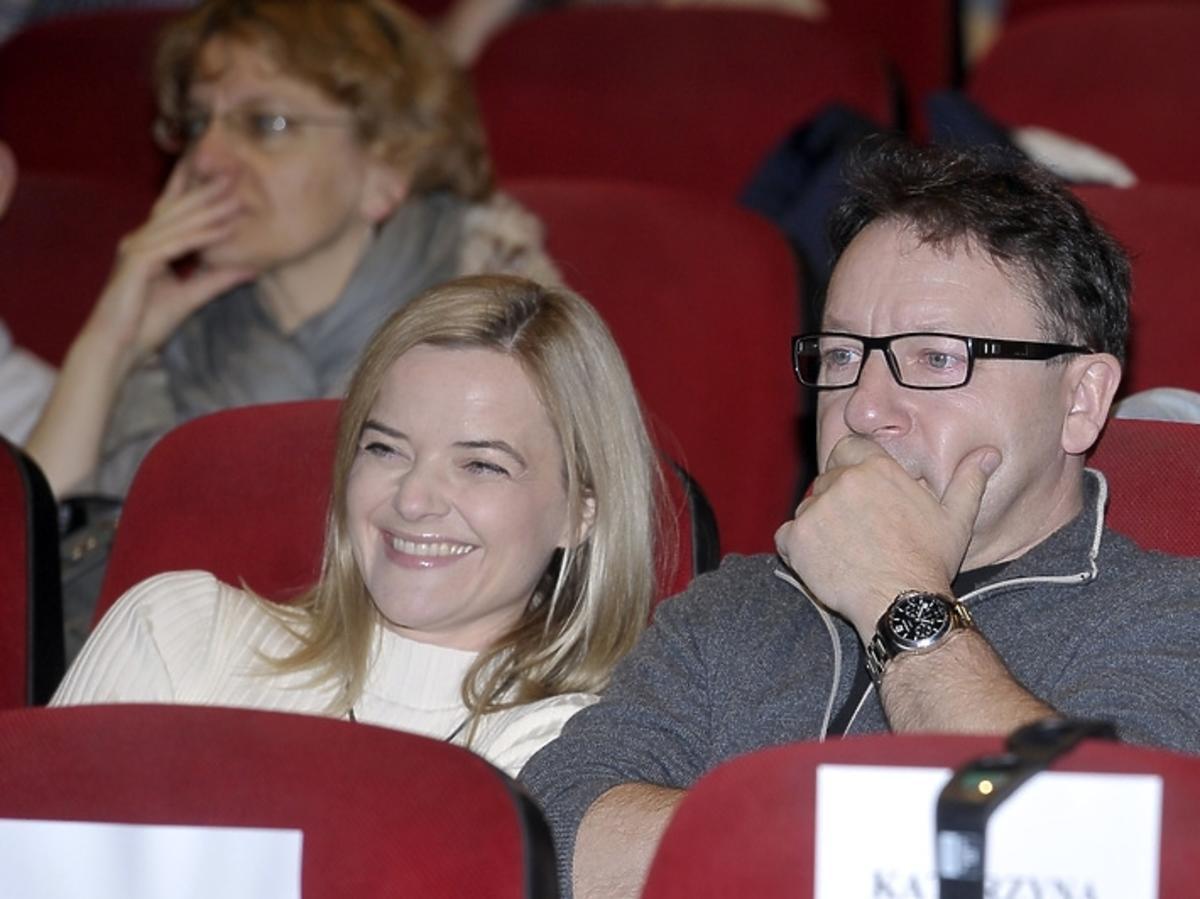 Monika Richardson i Zbigniew Zamachowski na premierze filmu