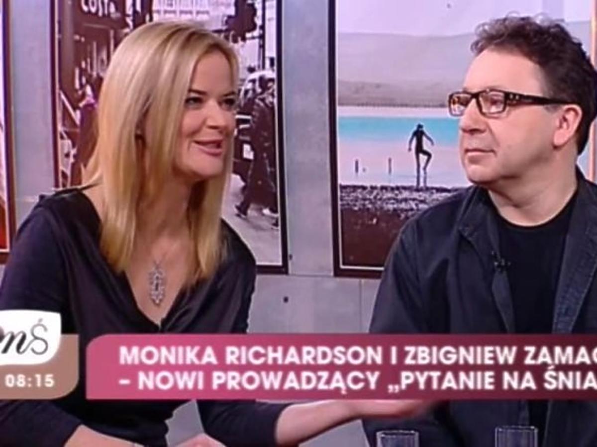 """Monika Richardson i Zbigniew Zamachowski w """"Pytaniu na śniadanie"""""""