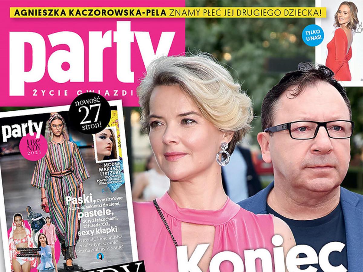"""Monika Zamachowska i Zbigniew Zamachowski na okłądce """"Party"""". Koniec małżeństwa"""