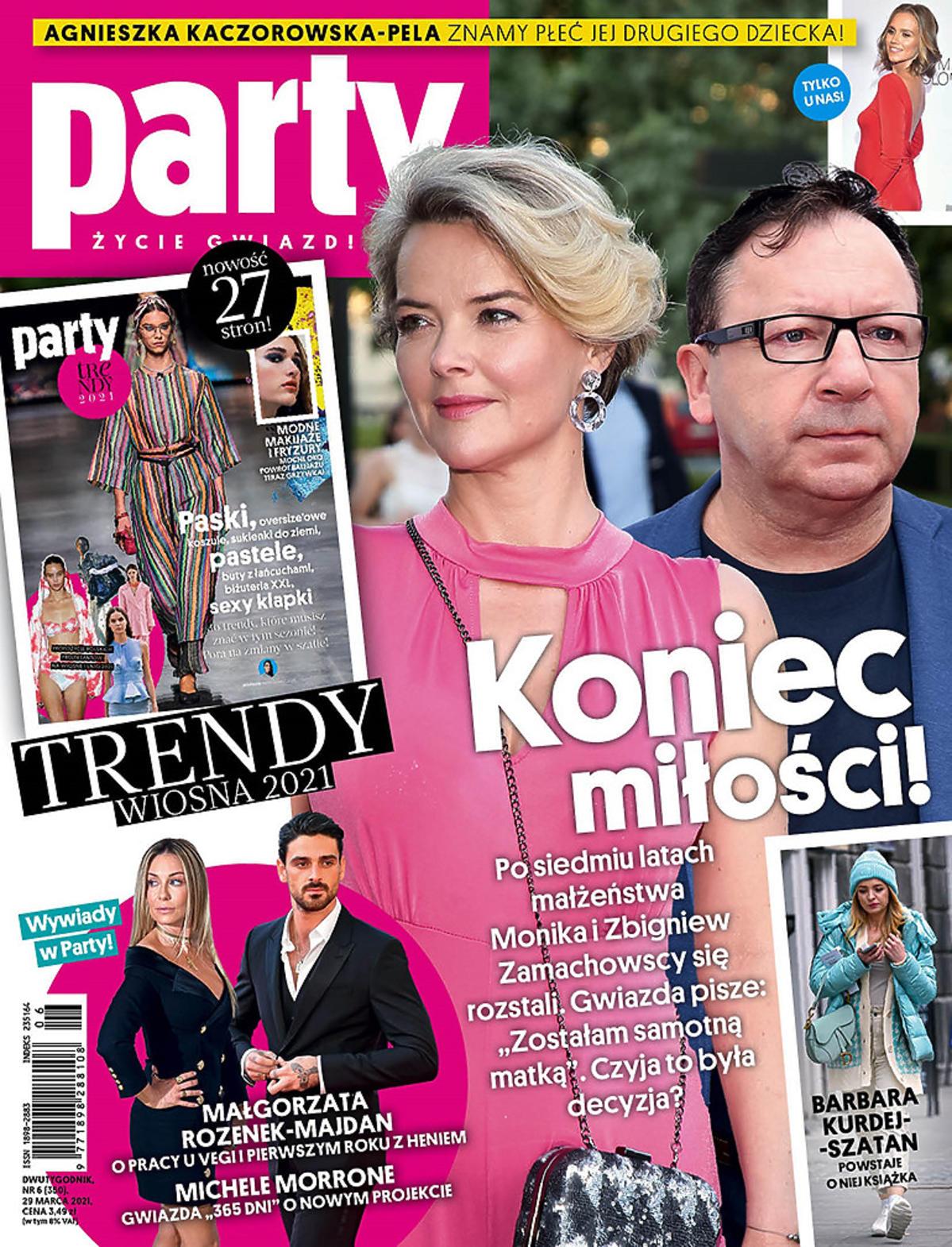 Monika Zamachowska i Zbigniew Zamachowski na okłądce