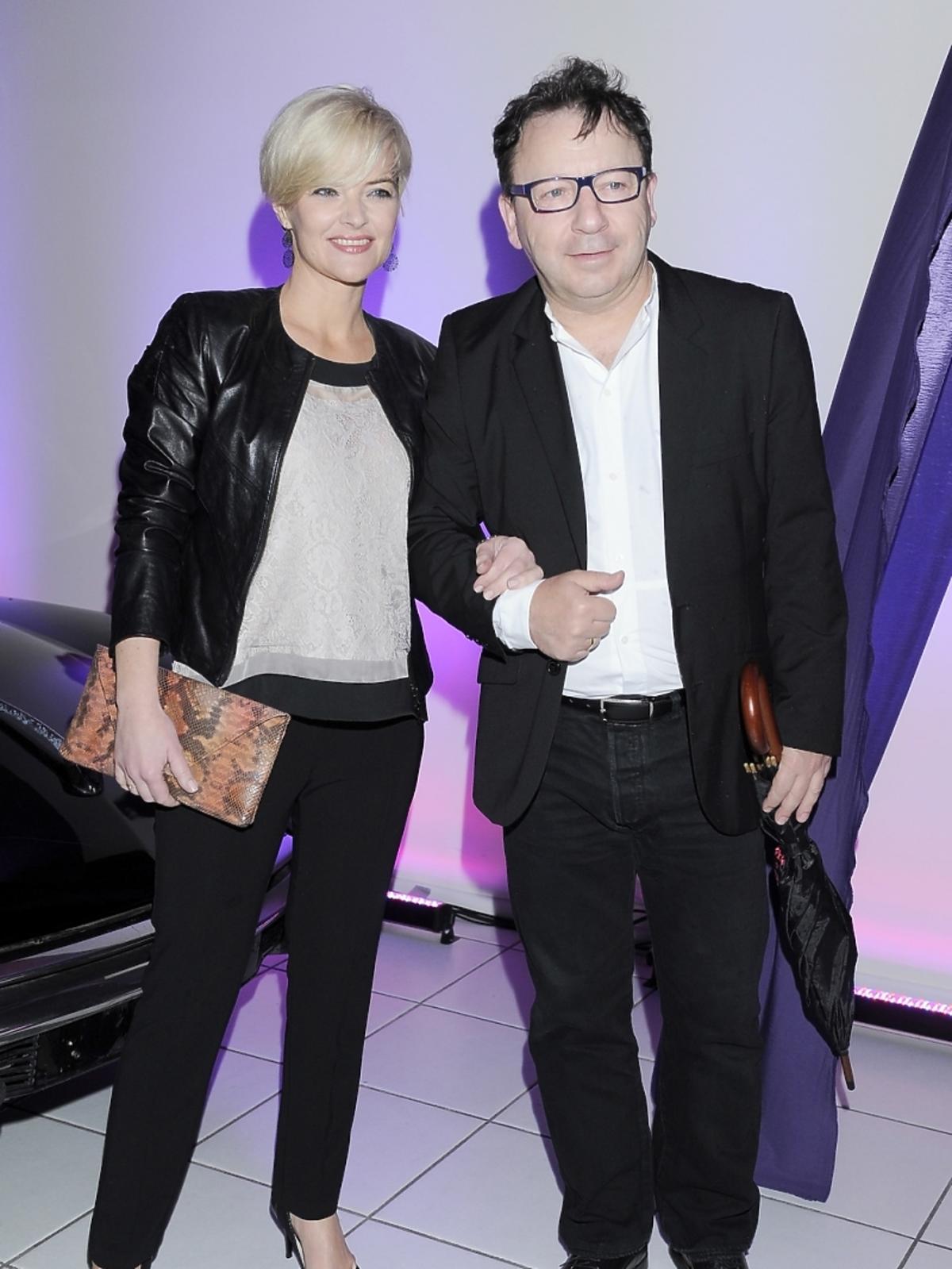 Monika Zamachowska i Zbigniew Zamachowski na prezentacji nowej marki samochodowej