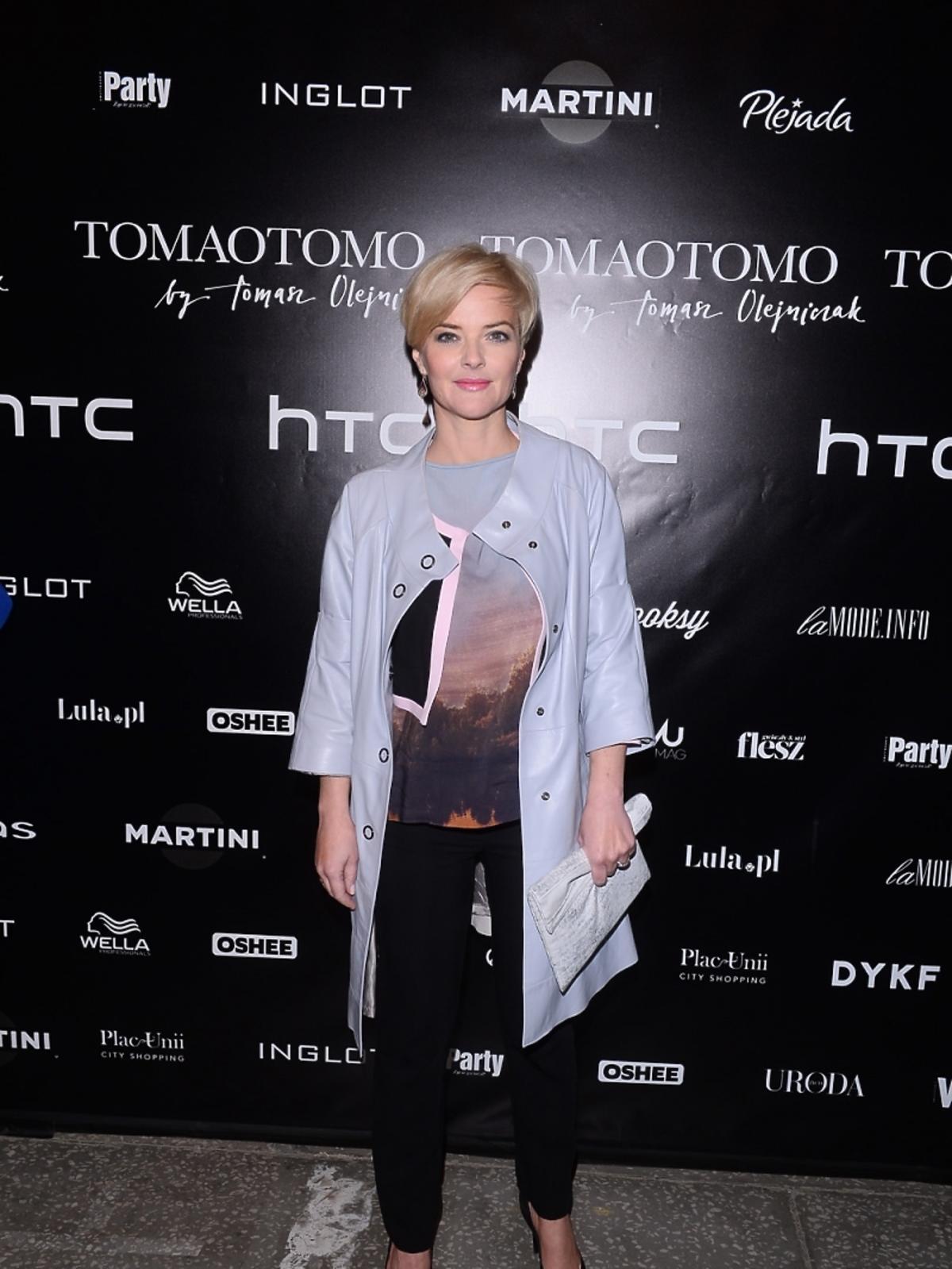 Monika Zamachowska na pokazie Tomaotomo