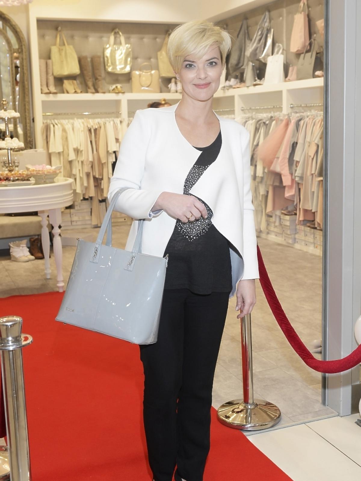 Monika Zamachowska na prezentacji w showroomie White House