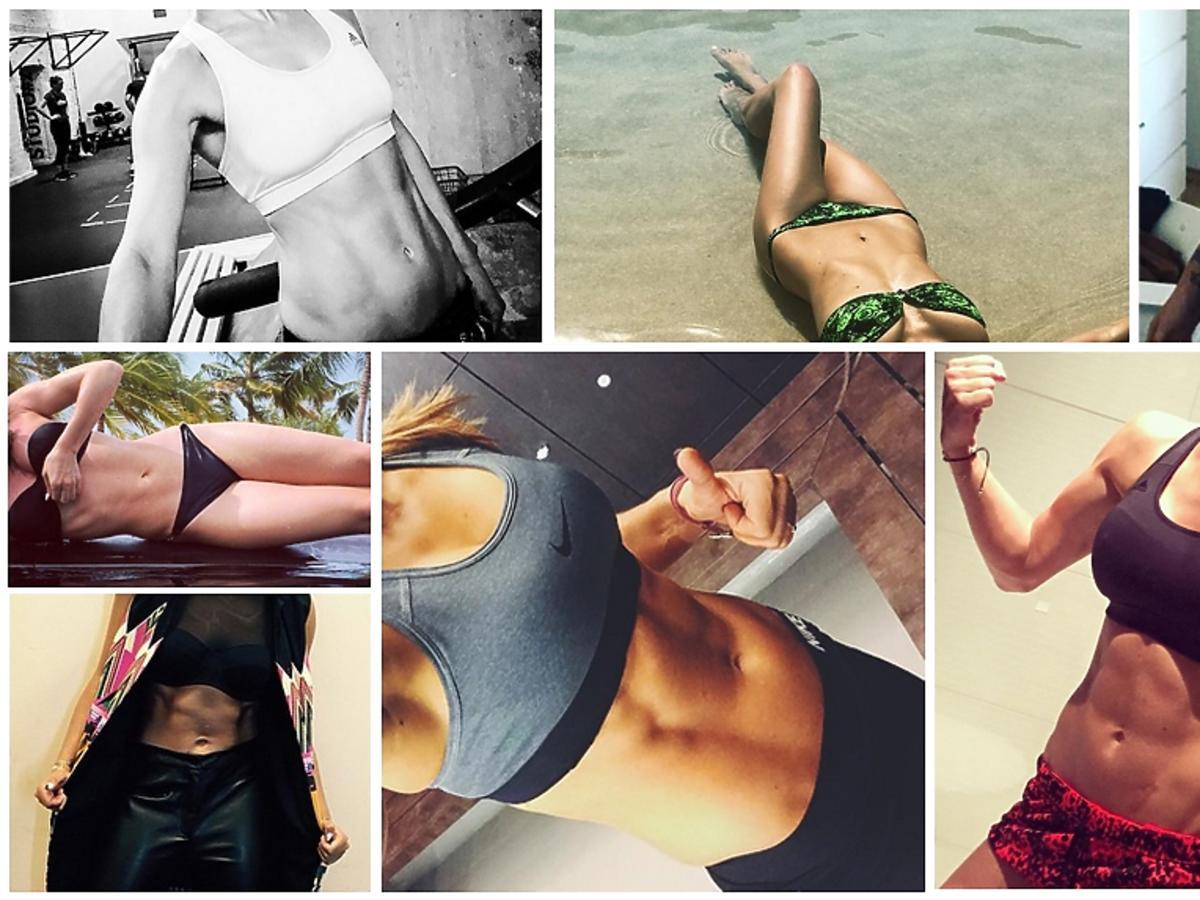 Montaż zdjęć brzuchów gwiazd z Instagrama