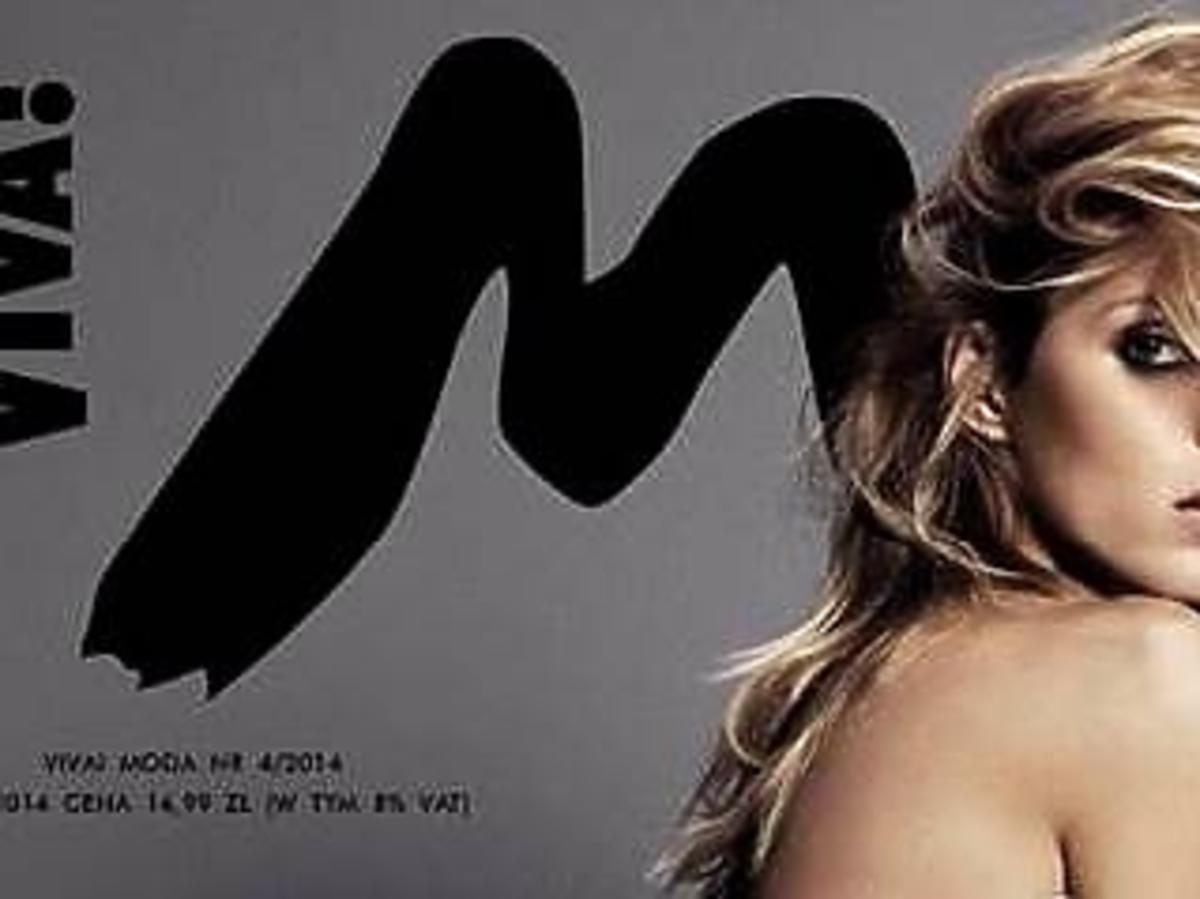 Naga Anja Rubik na okładce Viva! Moda