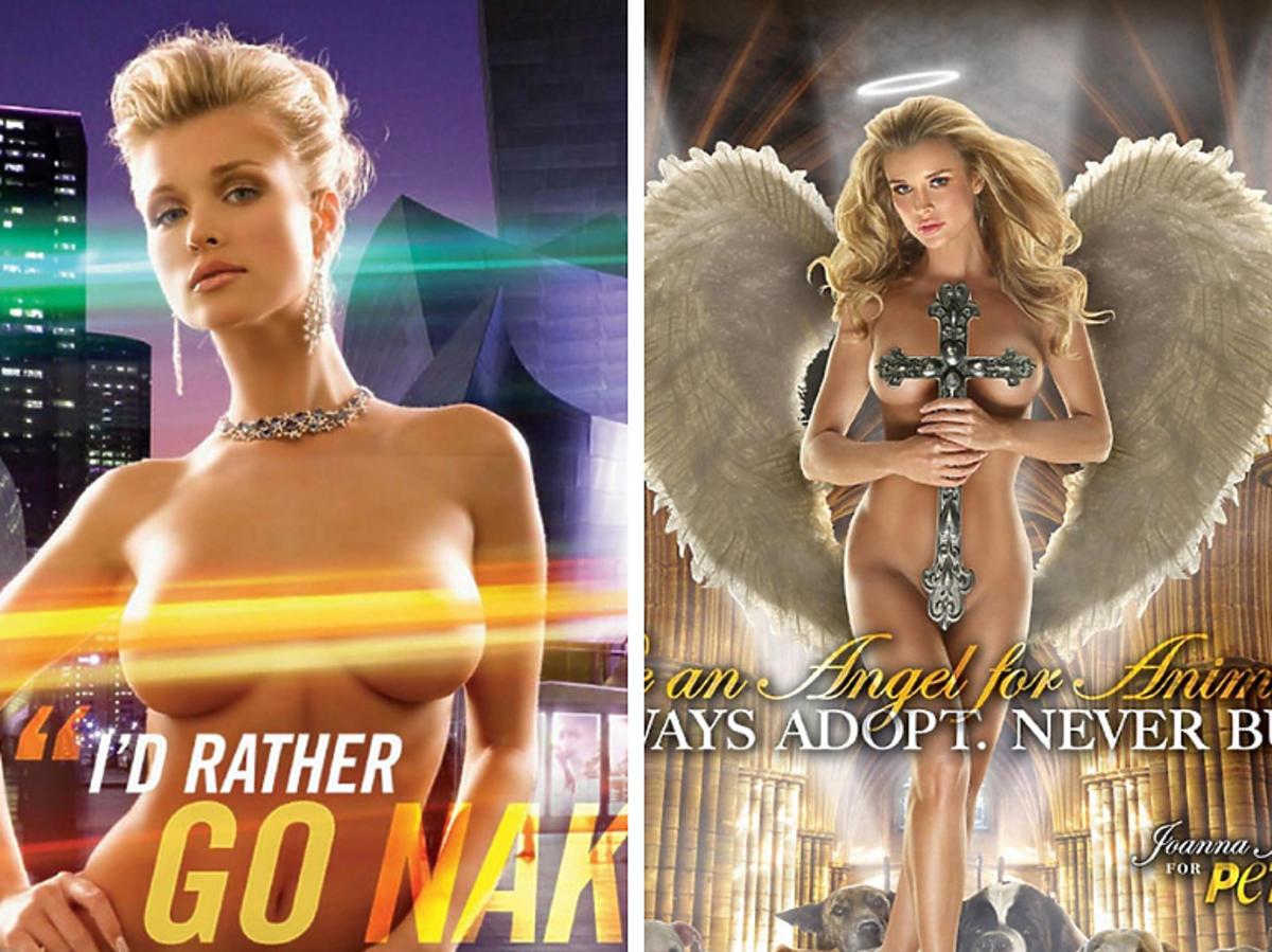 Naga Joanna Krupa na plakatach