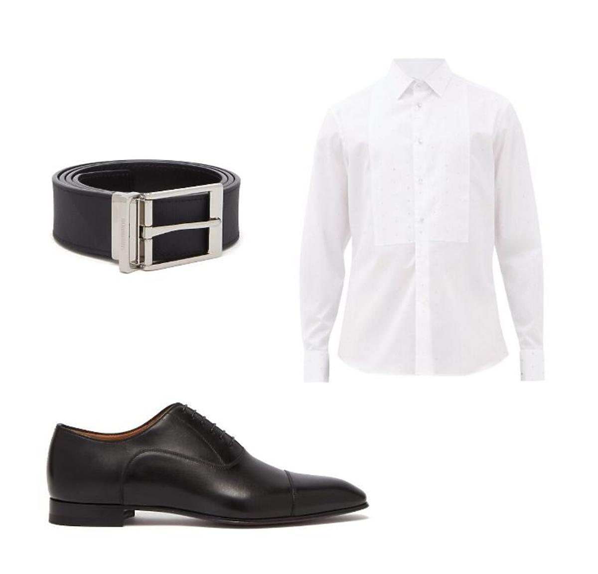 Najmodniejsze dodatki dla pana młodego-pasek,koszula,buty Burberrry/Pl.Trzech Krzyży,(Trendy 2020-stylizacja ślubna pan młody)