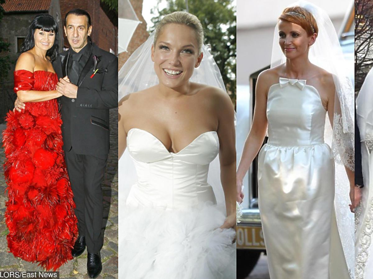 Najodważniejsze suknie ślubne gwiazd